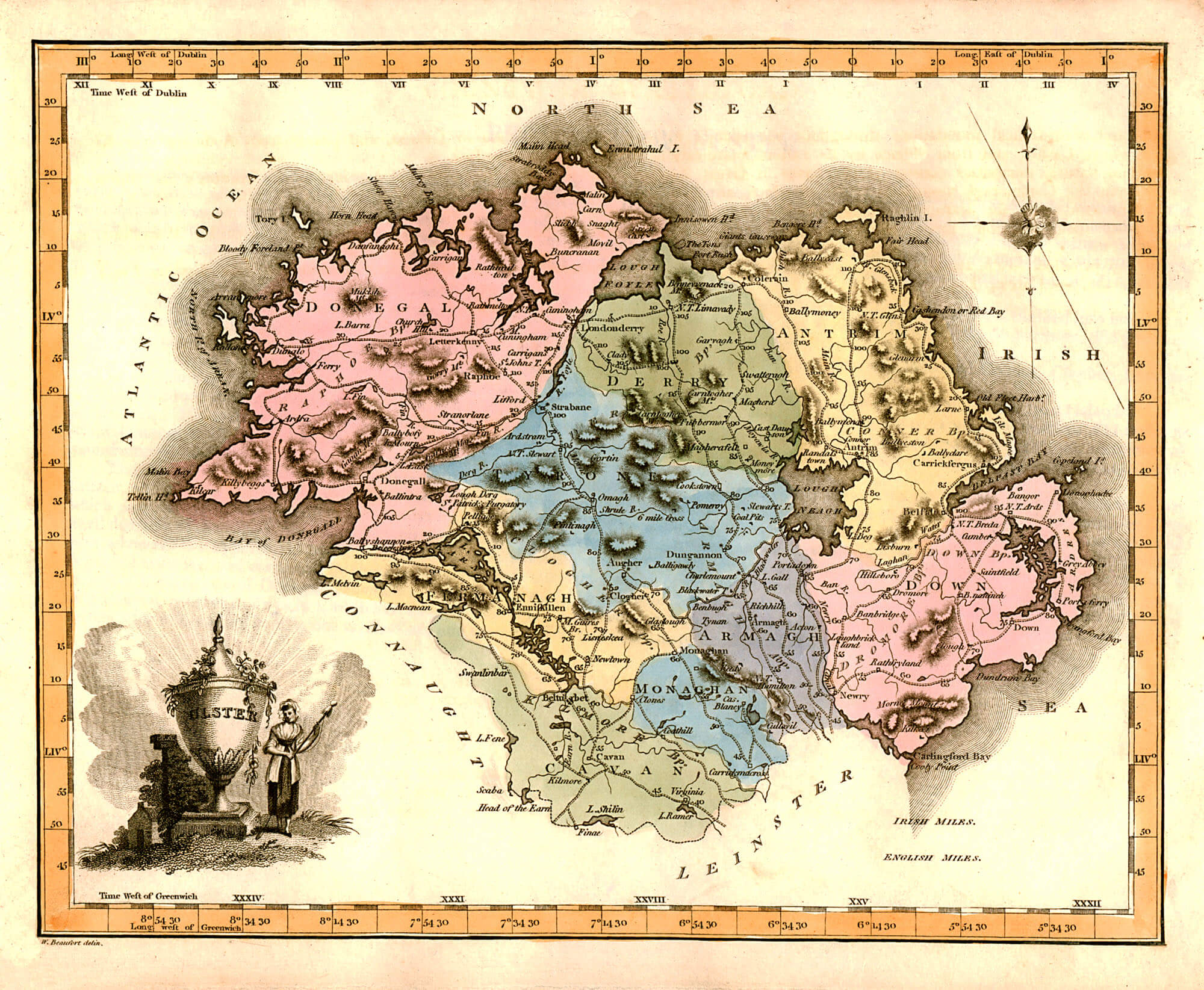 Ireland Counties John Grierson A L Brown Collection - 1823 us map