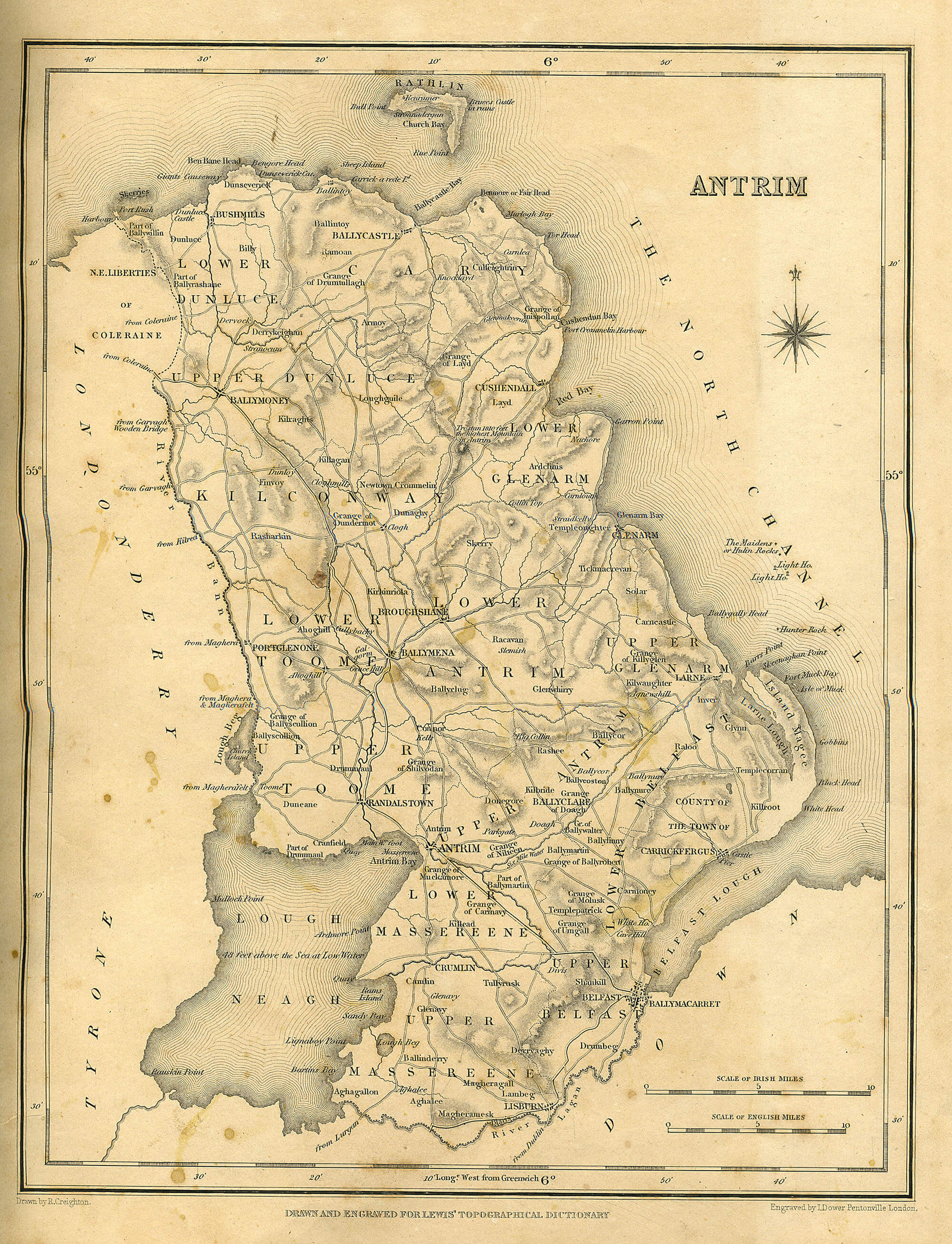 Map Of Dublin 6 Ireland.Ireland Counties Samuel Lewis 1837 A 17 L Brown Collection