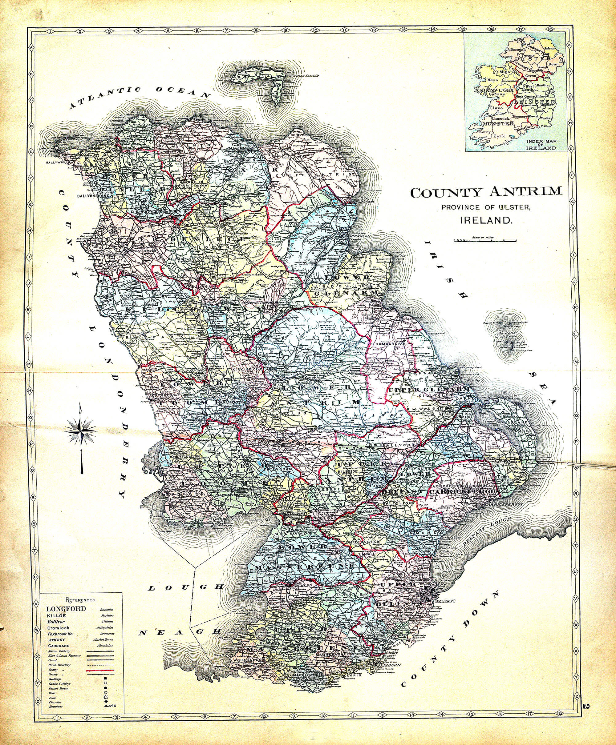 Ireland and Counties Maps A-31 – Richards 1901 – L Brown Collection
