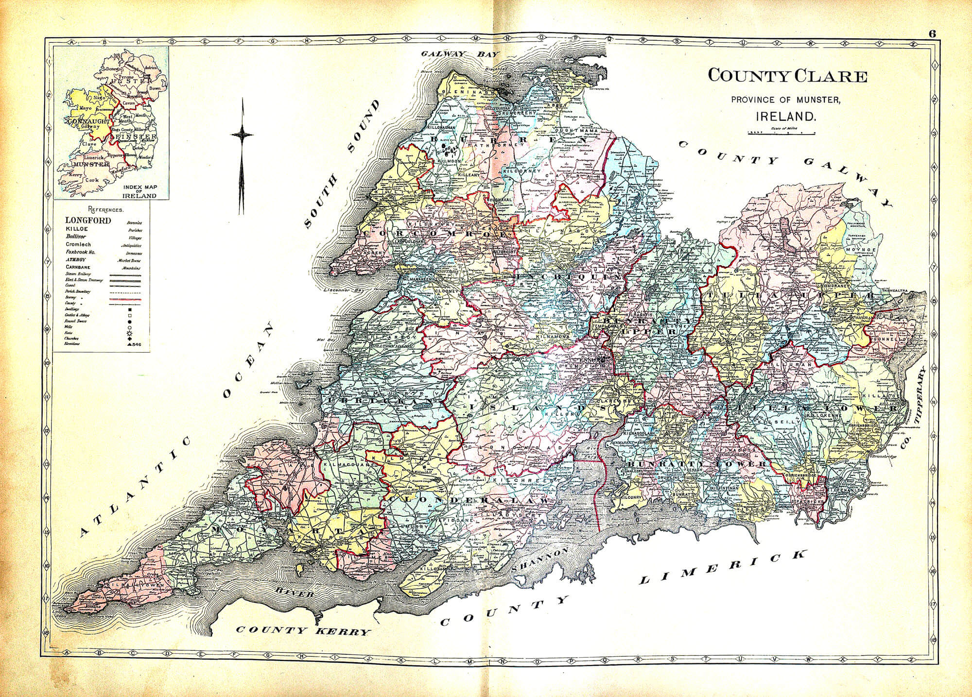 Blank Map Of Ireland Counties.Ireland And Counties Maps A 31 Richards 1901 L Brown Collection