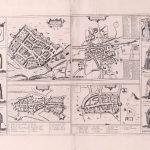 Dublin-Ireland 4 towns Gerard Mercator 1633