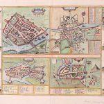 Dublin-Ireland 4 towns Gerard Mercator 1633-2