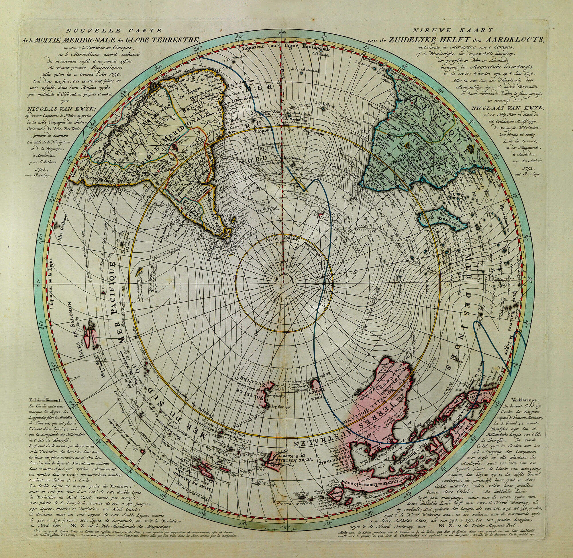 Worldwide maps astronomy astrology fag 1 l brown collection f1 4 southern hemisphere van ewyk 1752 gumiabroncs Choice Image
