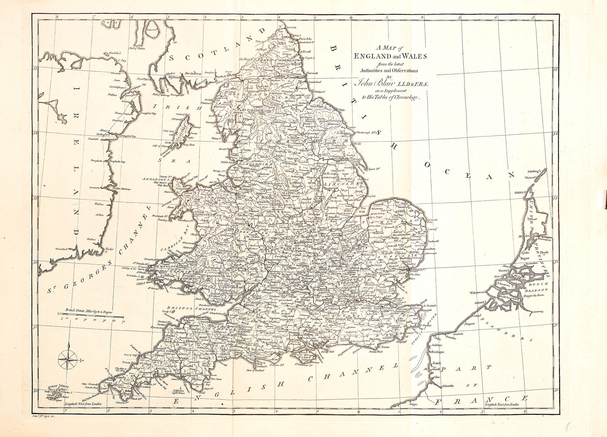 World atlas john blair 1768 l brown collection a 113 10 england wales gumiabroncs Image collections