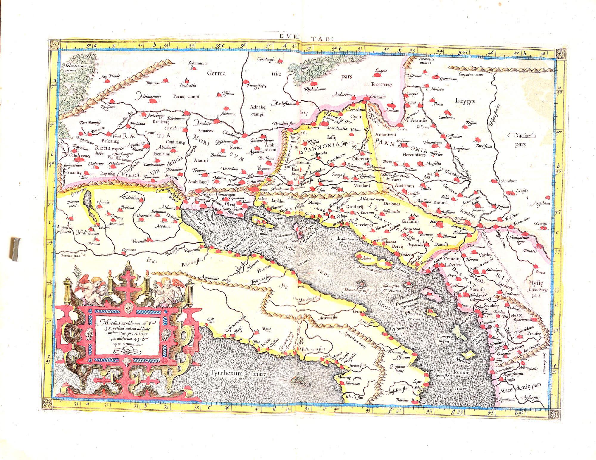 World atlas c ptolomy peter bertius 1618 l brown collection dd aa 08 06 italy balkans gumiabroncs Choice Image