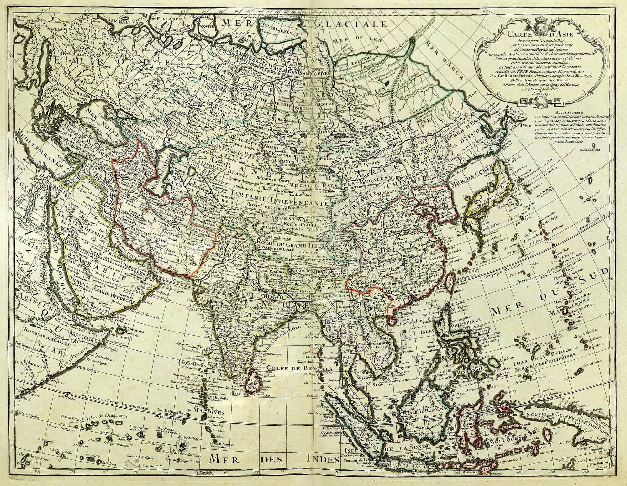 Worldwide maps asia east indies fag 19 part 1 maps 1 40 l brown f19 1 asia de lisle 1723 gumiabroncs Choice Image