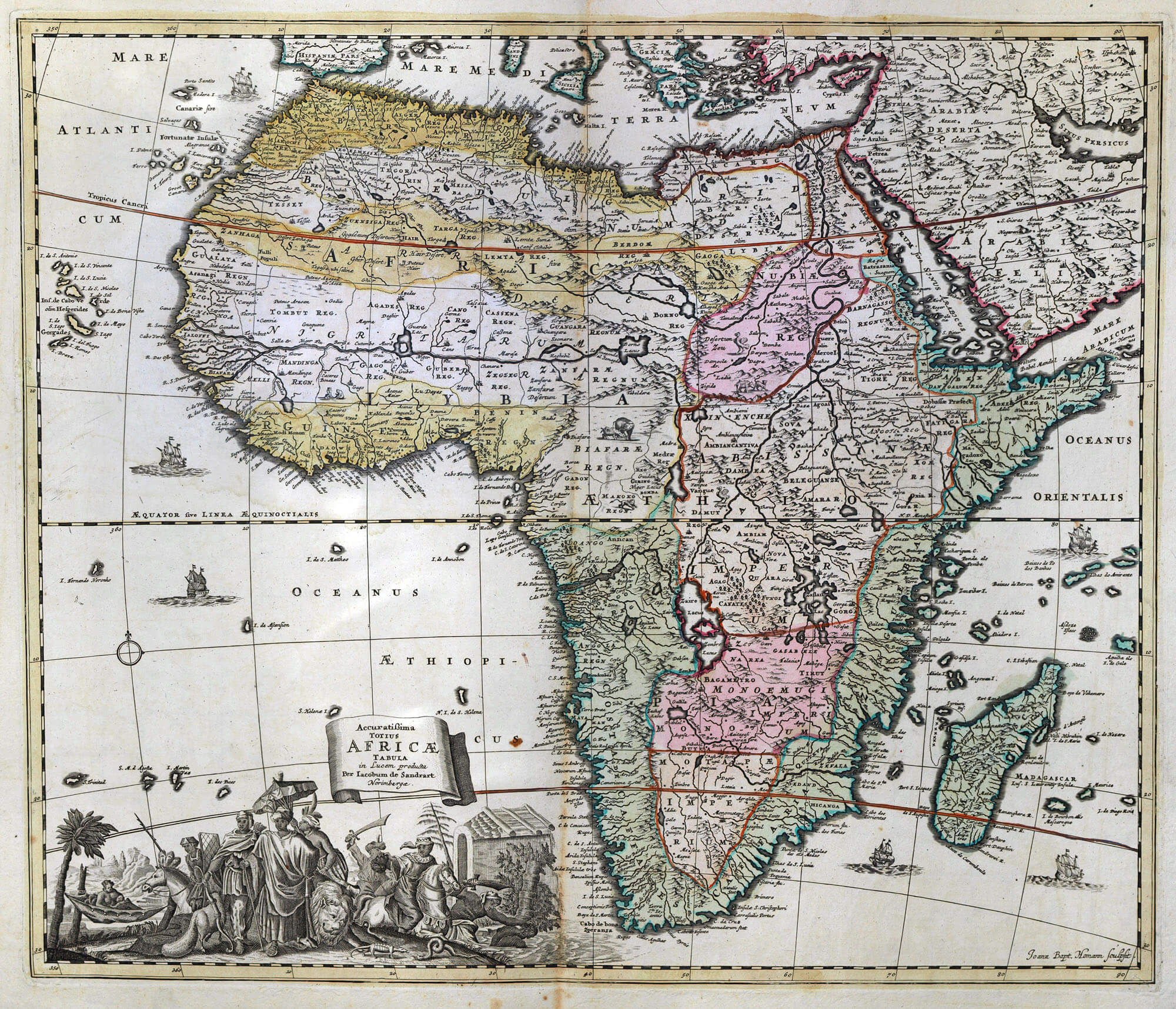 Worldwide maps africa fag 20 l brown collection f20 3 africa sandrart gumiabroncs Images