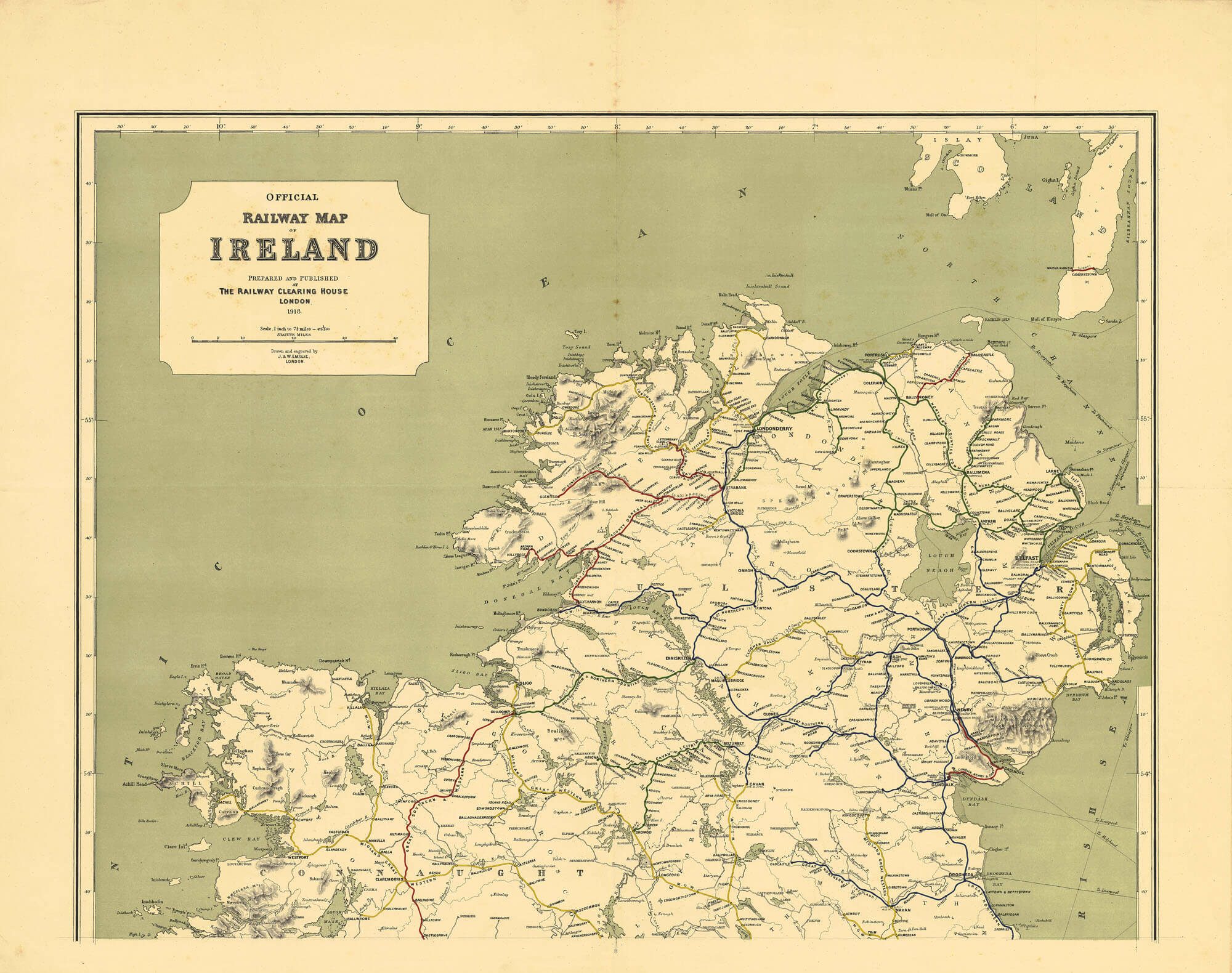 Ireland Maps Of Railways  L Brown Collection - Railway map usa 1890