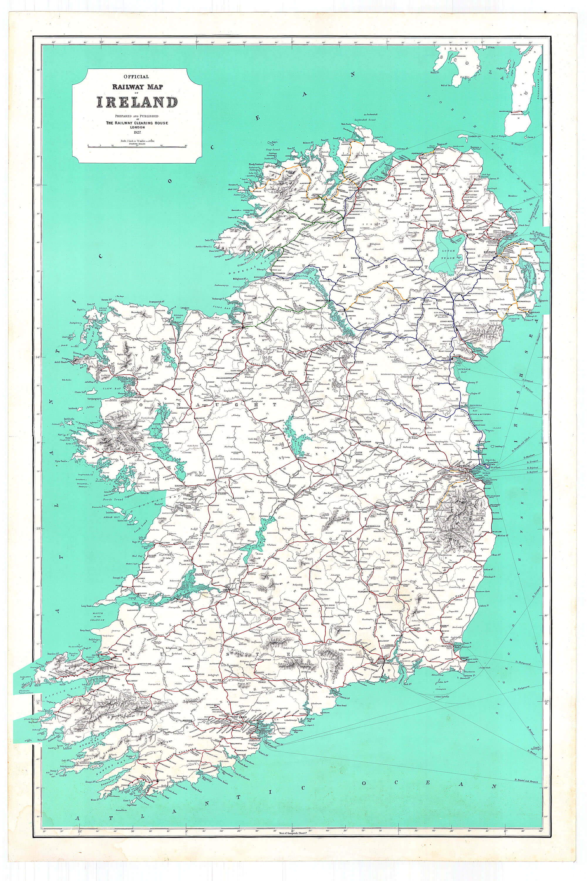 Rail Map Of Ireland.Ireland Maps Of Railways L Brown Collection