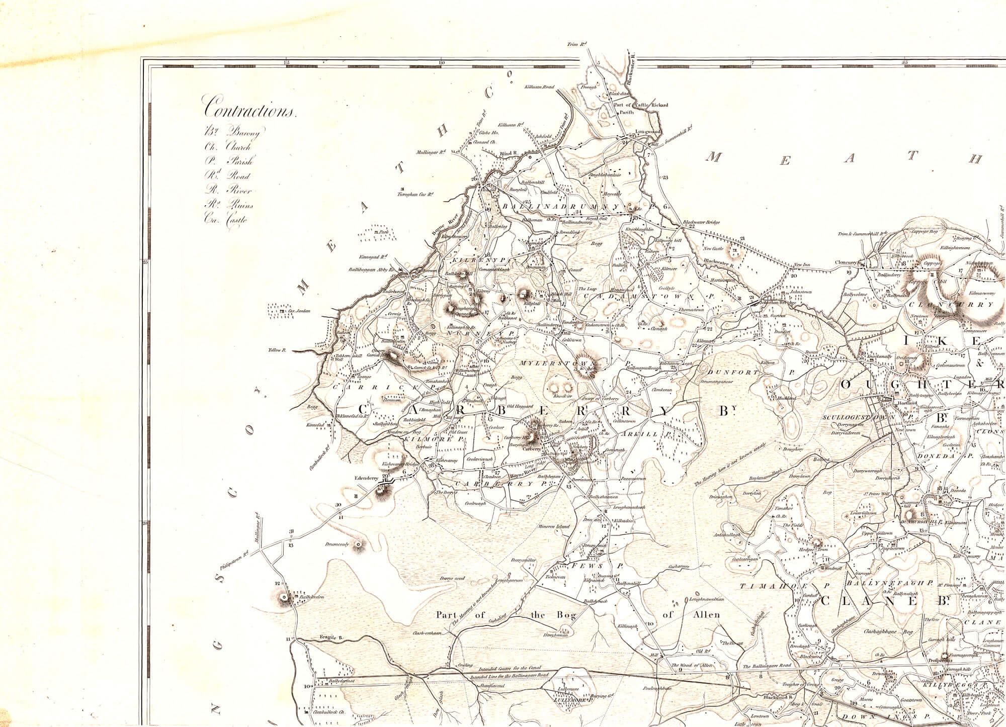 Ireland Grand Jury Maps Kildare L Brown Collection