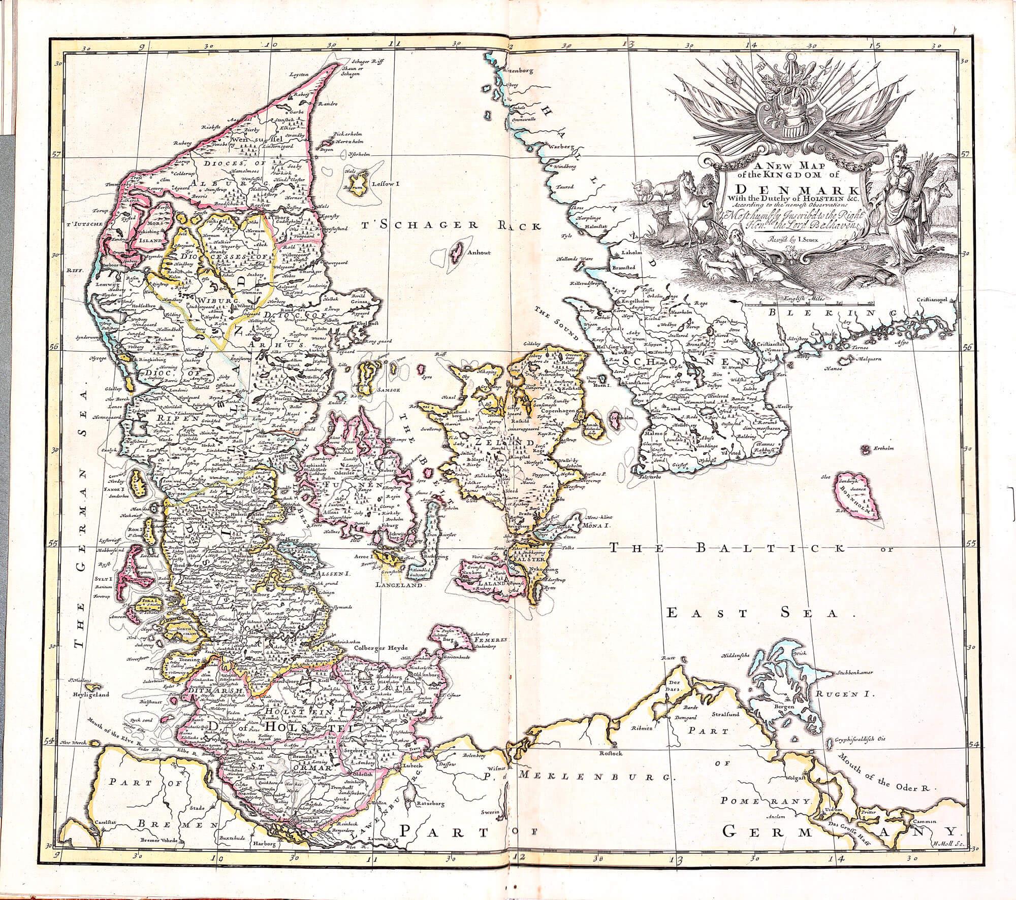 World atlas john senex 1721 l brown collection pp a 15 03 denmark gumiabroncs Images