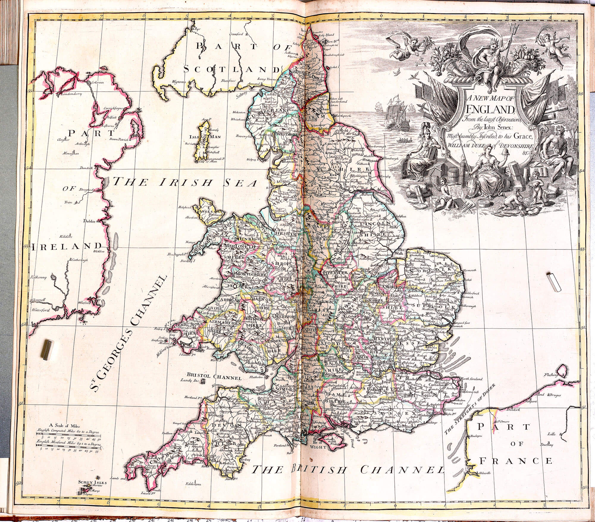 World atlas john senex 1721 l brown collection pp a 15 21 england gumiabroncs Image collections