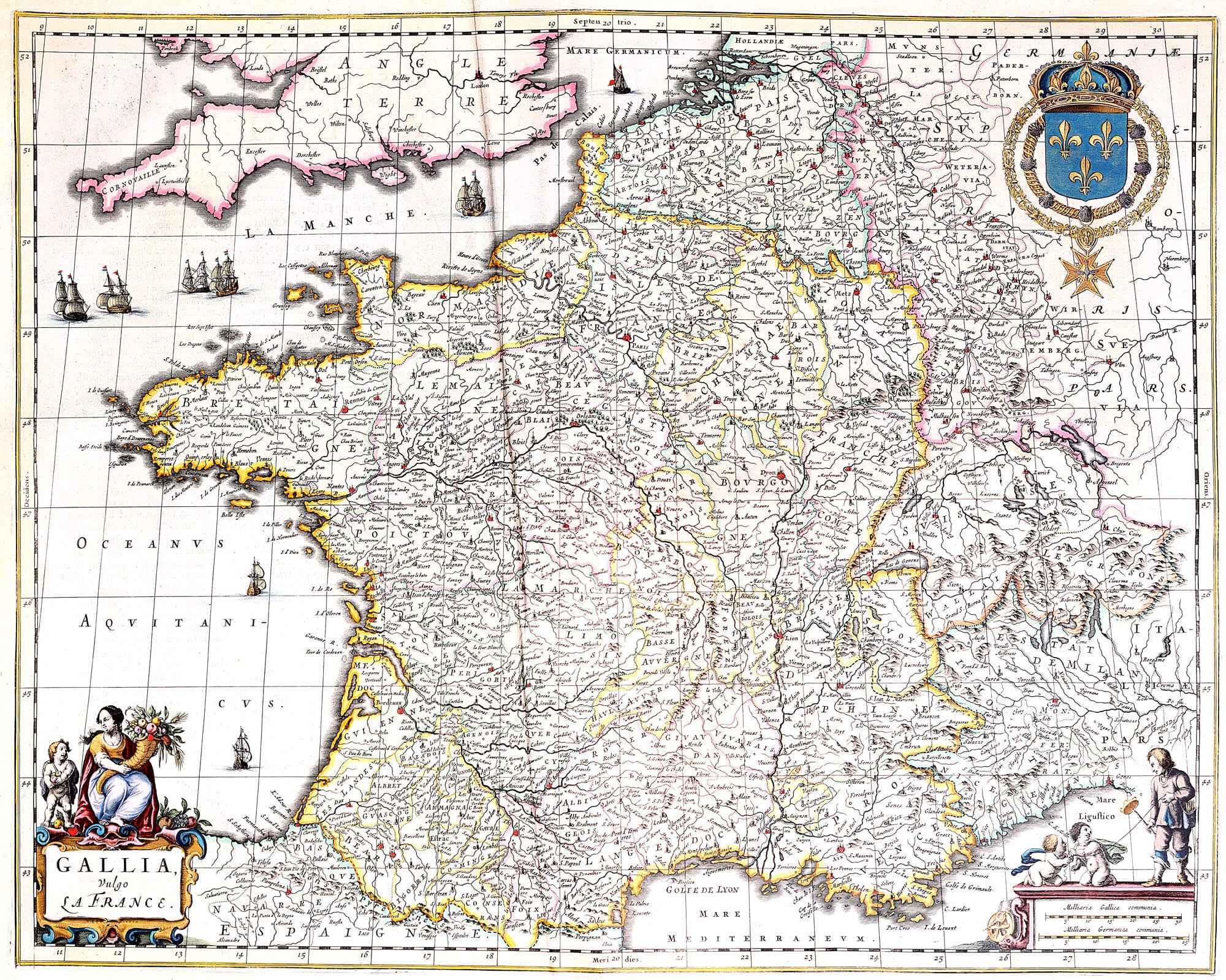 Atlas maior vol 7 z 1 28 blaeu 1662 france and switzerland part 1 z 1 28 01 france gumiabroncs Image collections