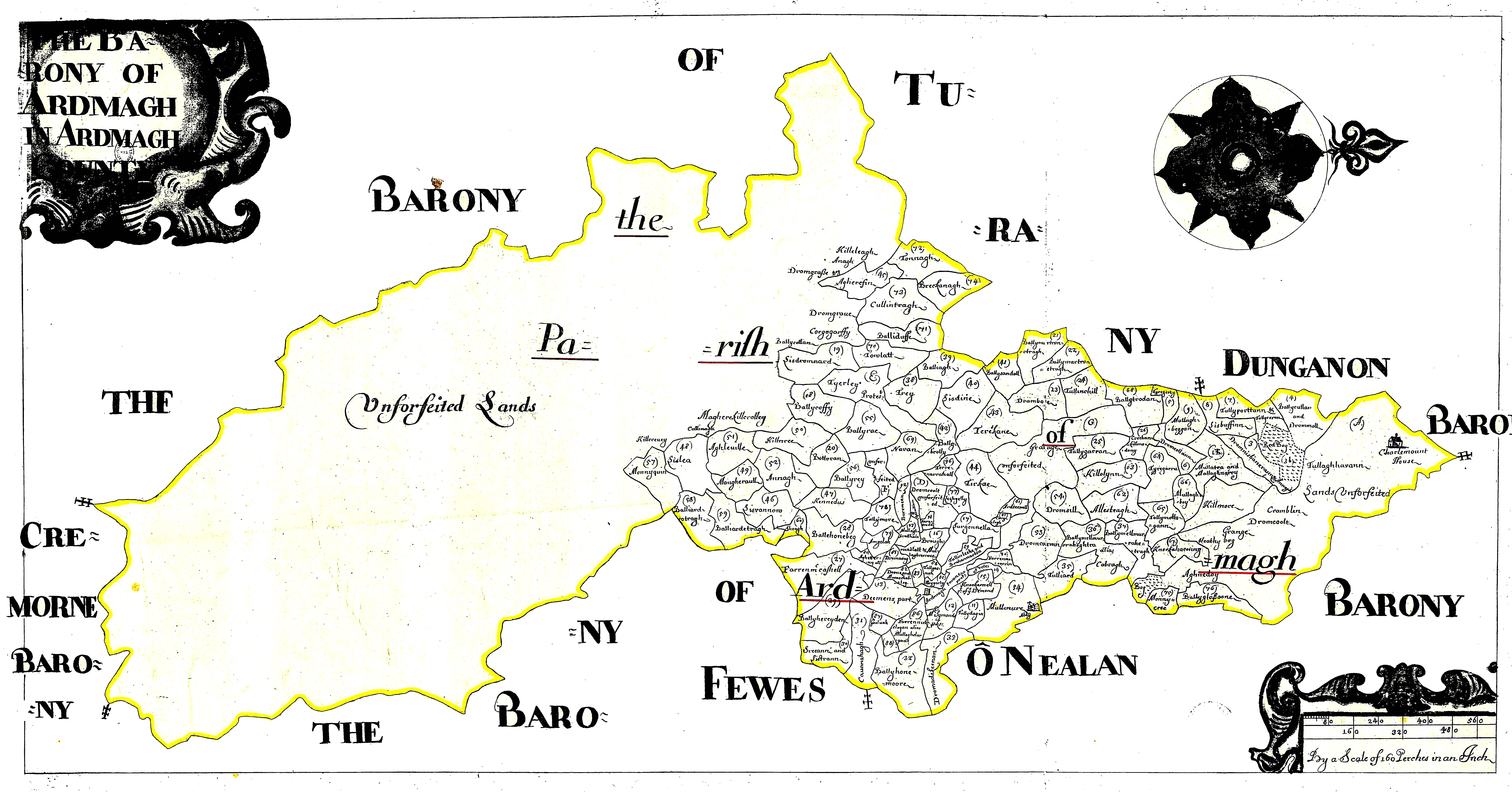 Ireland Barony Maps County Armagh L Brown Collection