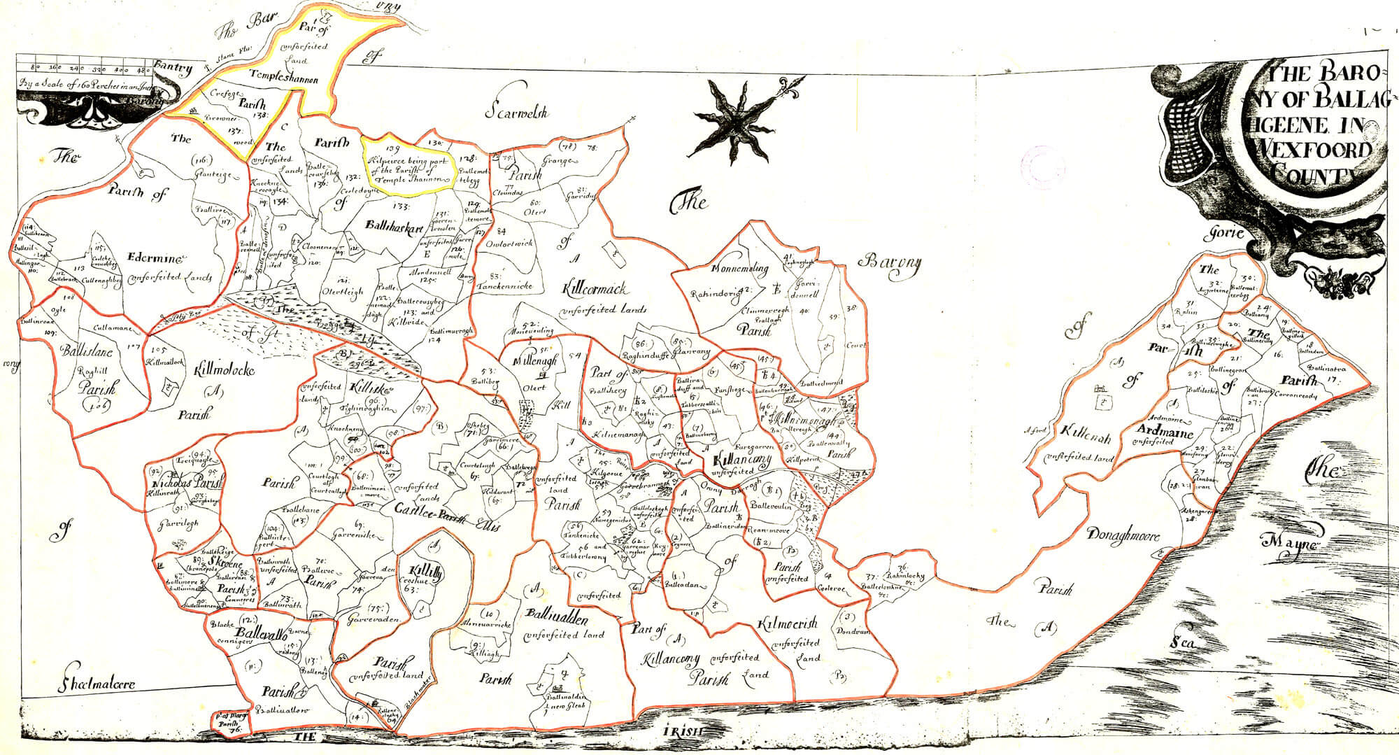 Ireland Barony Maps County Wexford L Brown Collection