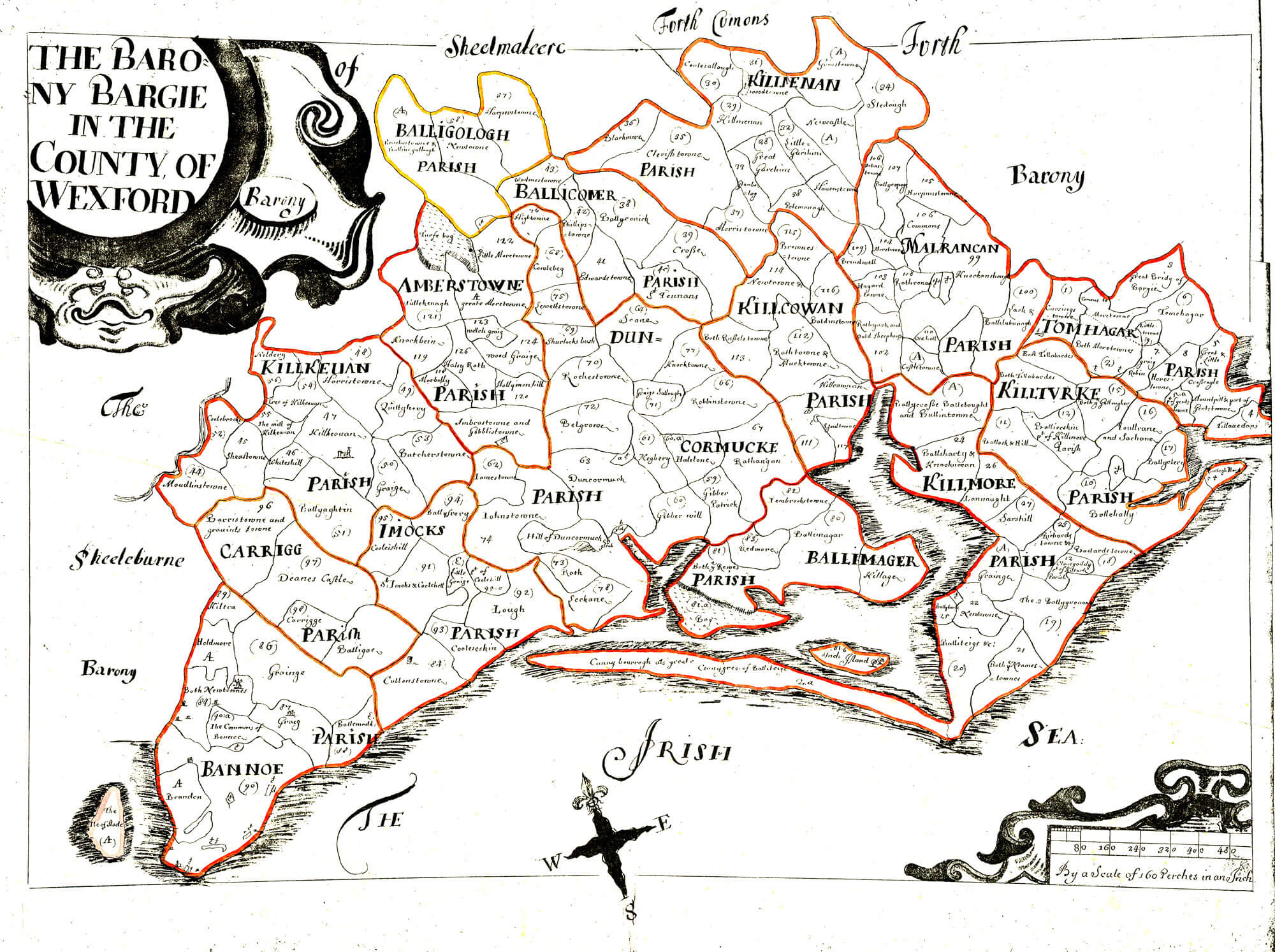 Ireland Barony Maps County Wexford – L Brown Collection on ireland wexford, courtown wexford, hook lighthouse wexford, whites hotel wexford, co wexford,