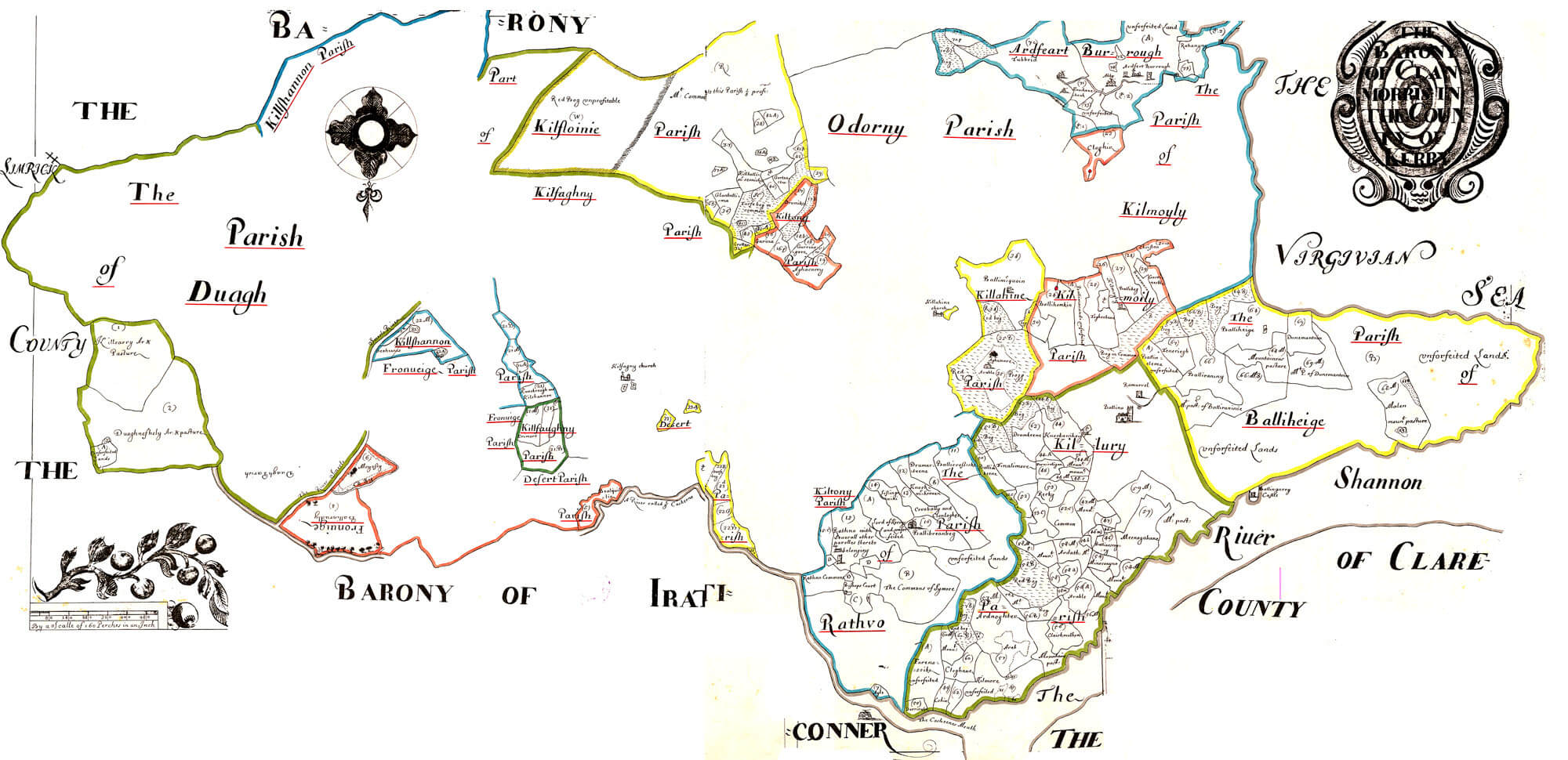 Ireland Barony Maps County Kerry – L Brown Collection