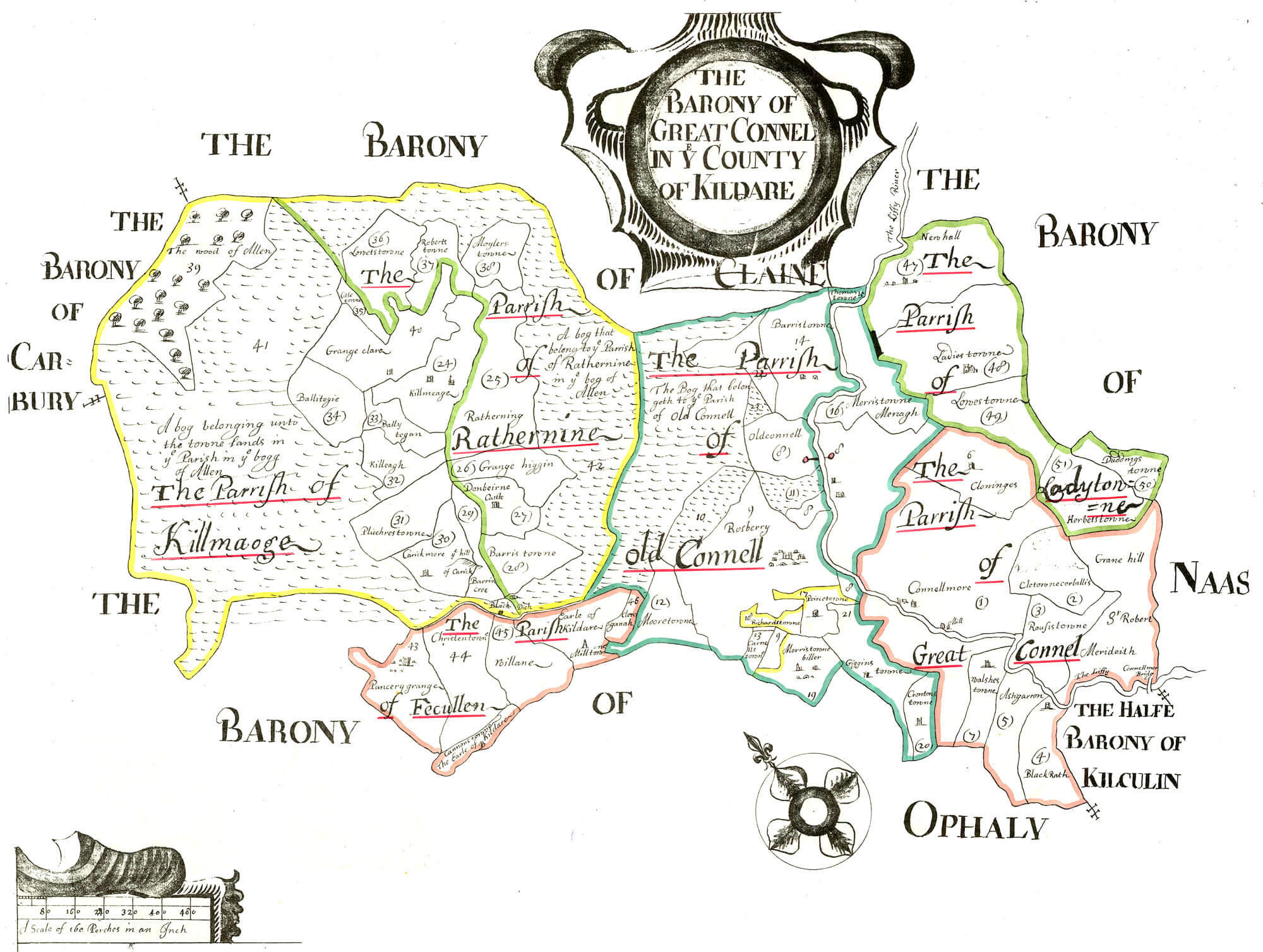 Ireland Barony Maps County Kildare L Brown Collection