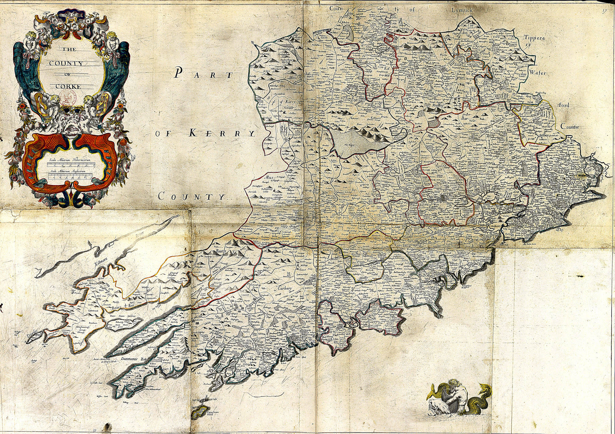 Map Of Cork County Ireland.Ireland Barony Maps County Cork L Brown Collection