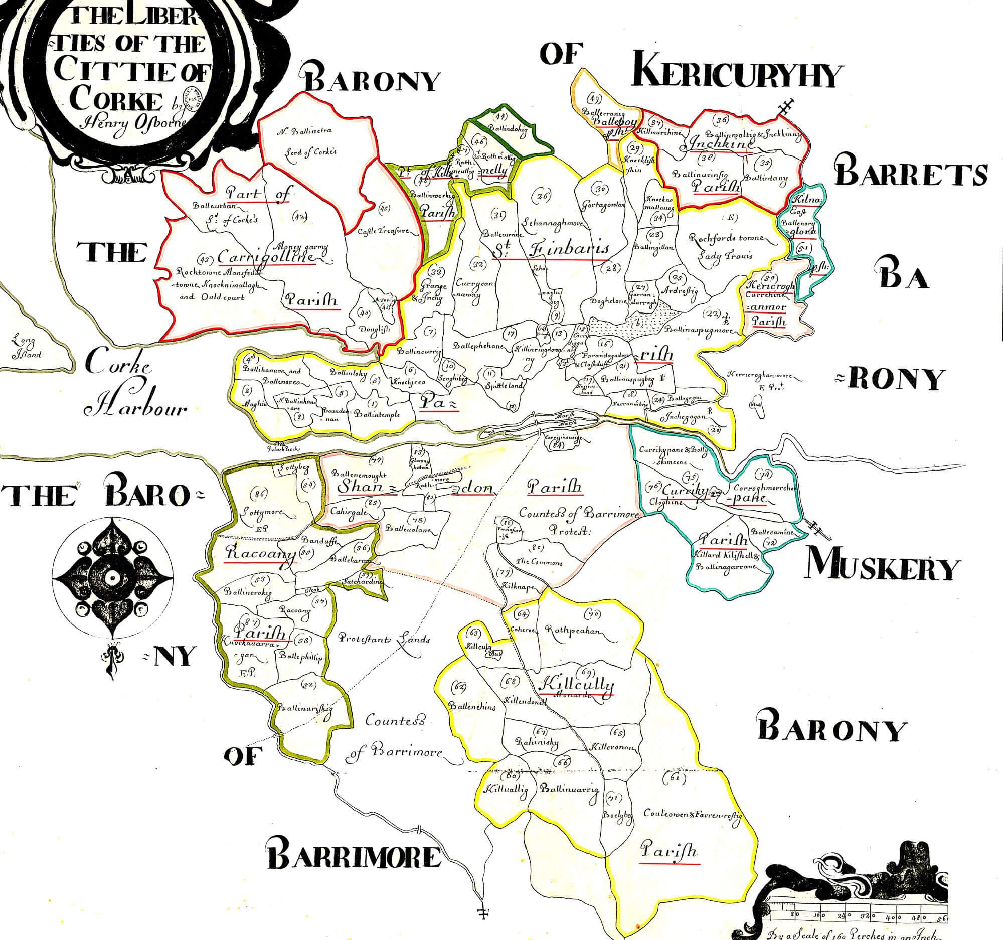 Ireland barony maps county cork l brown collection cork liberties gumiabroncs Choice Image