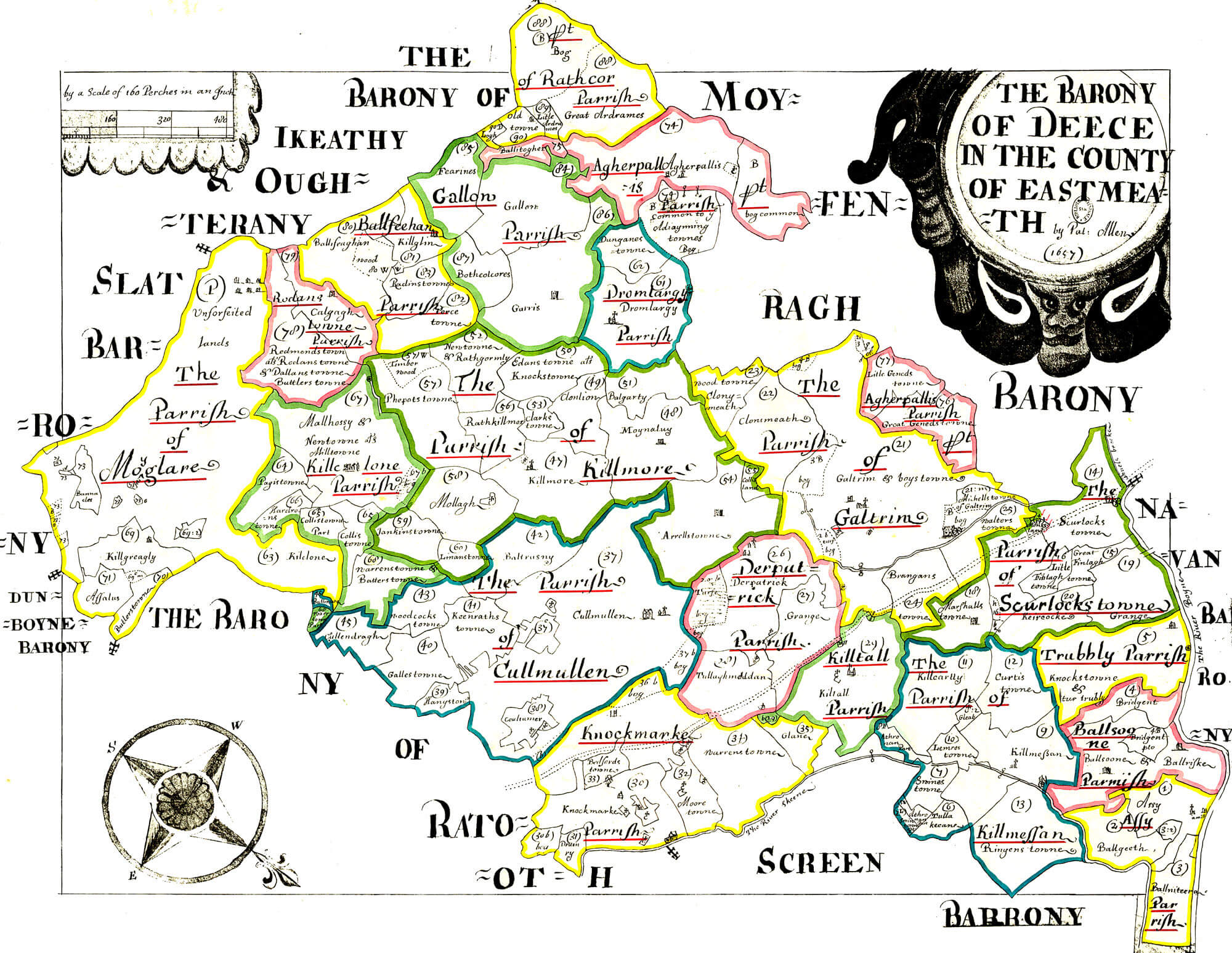 Ireland Barony Maps County Meath L Brown Collection