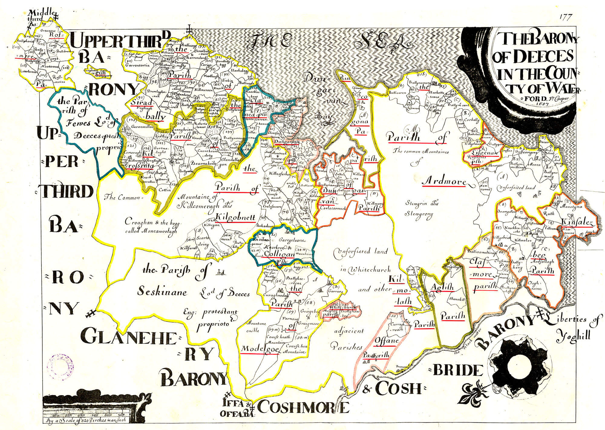 Map Of Waterford Ireland.Ireland Barony Maps County Waterford L Brown Collection