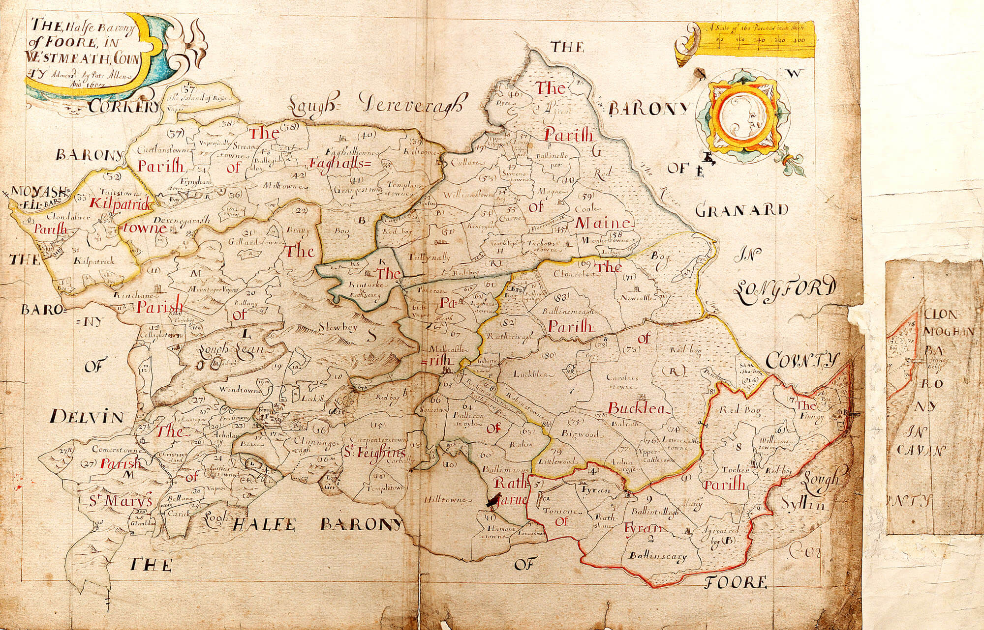 Ireland Barony Maps County Westmeath – L Brown Collection