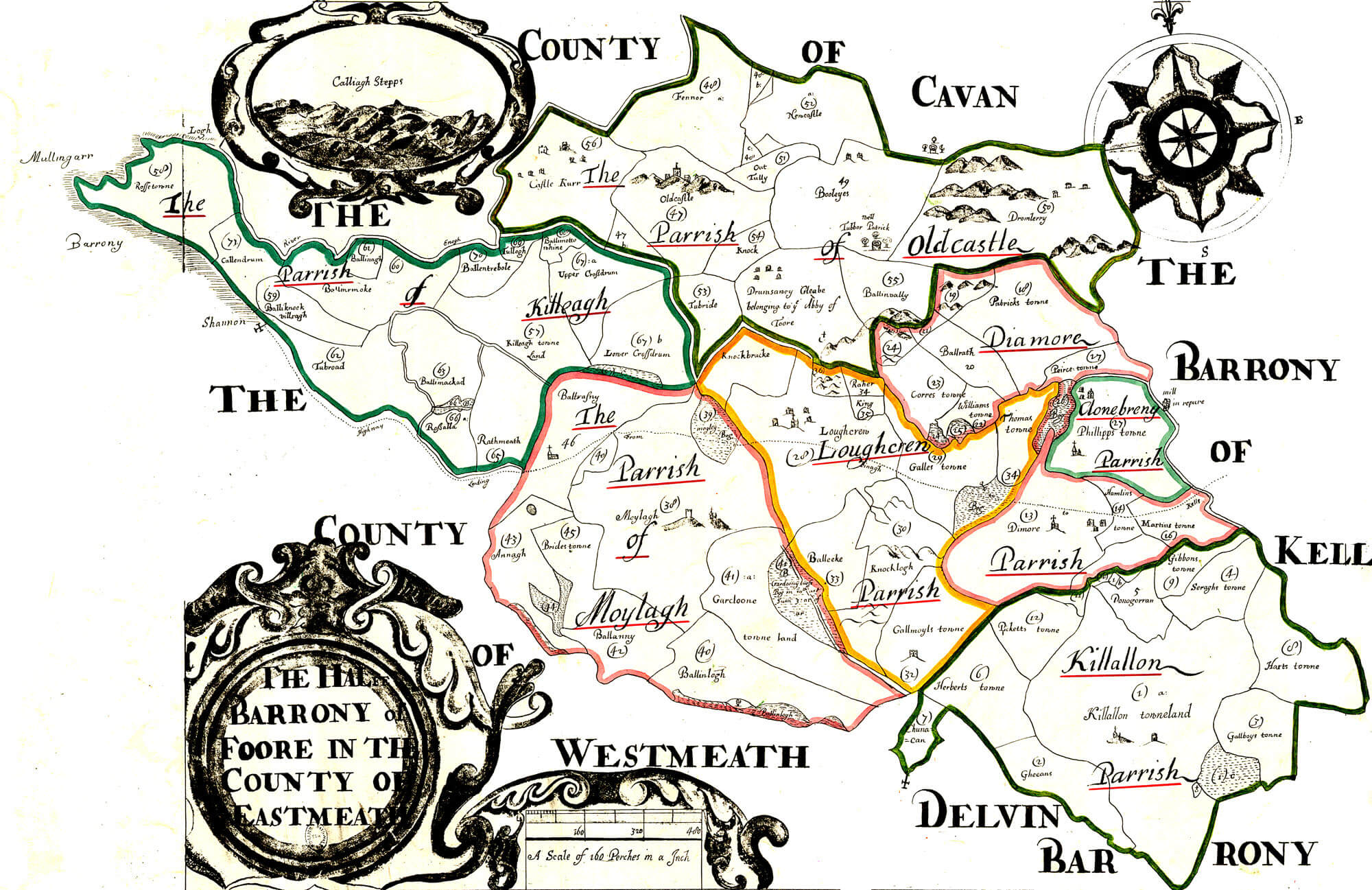 Blank Map Of Ireland 32 Counties.Ireland Barony Maps County Meath L Brown Collection