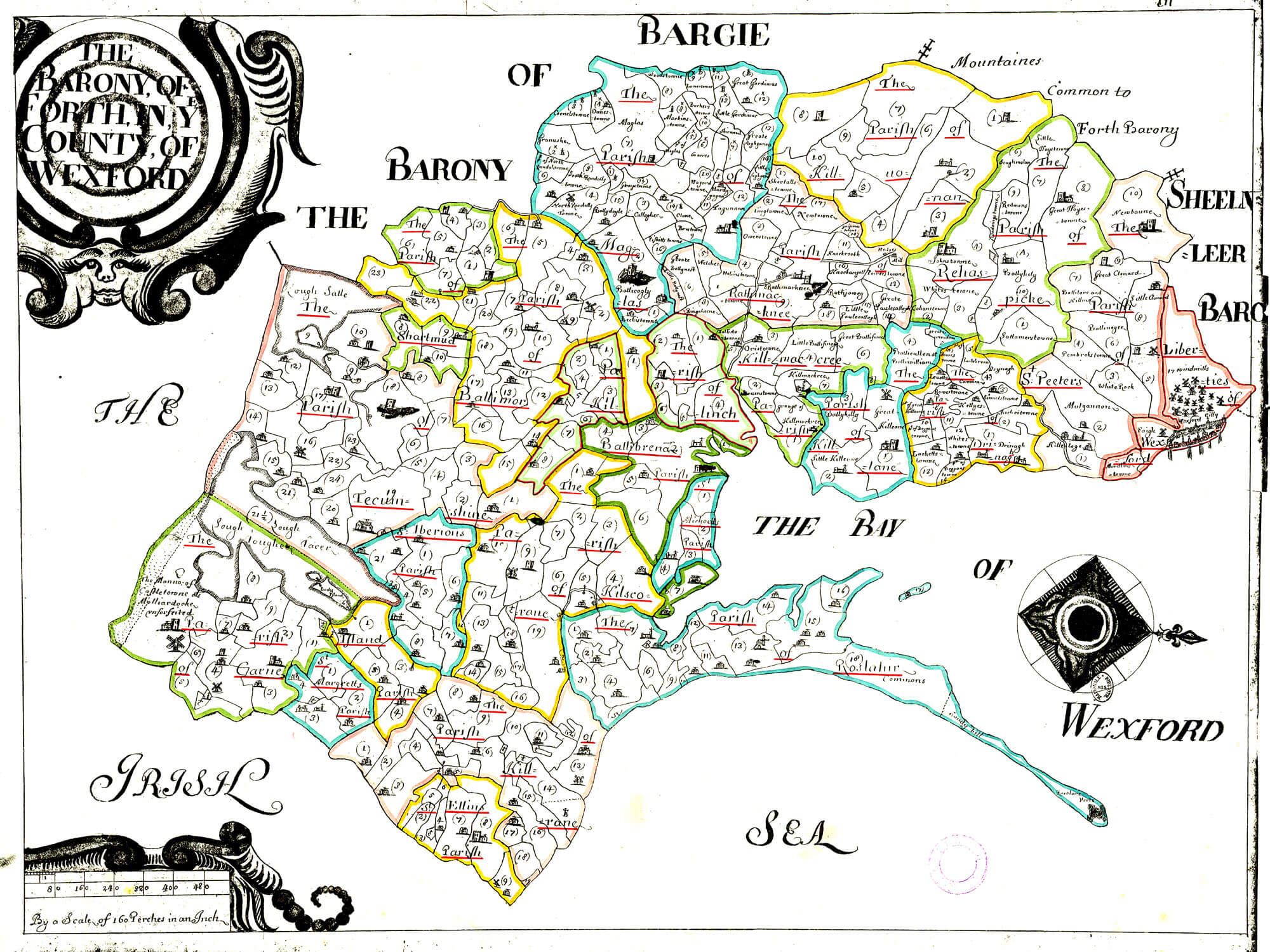 Map Of Wexford County Ireland.Ireland Barony Maps County Wexford L Brown Collection
