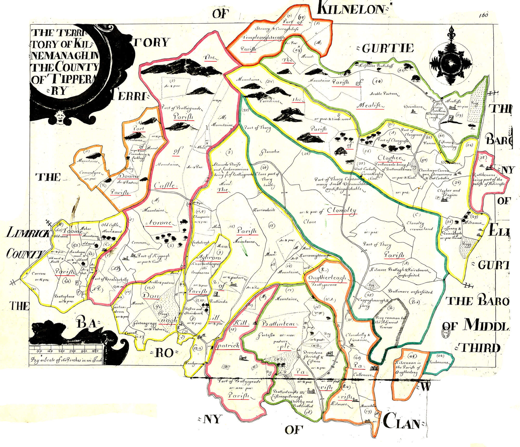 County Tipperary Ireland Map.Ireland Barony Maps County Tipperary L Brown Collection