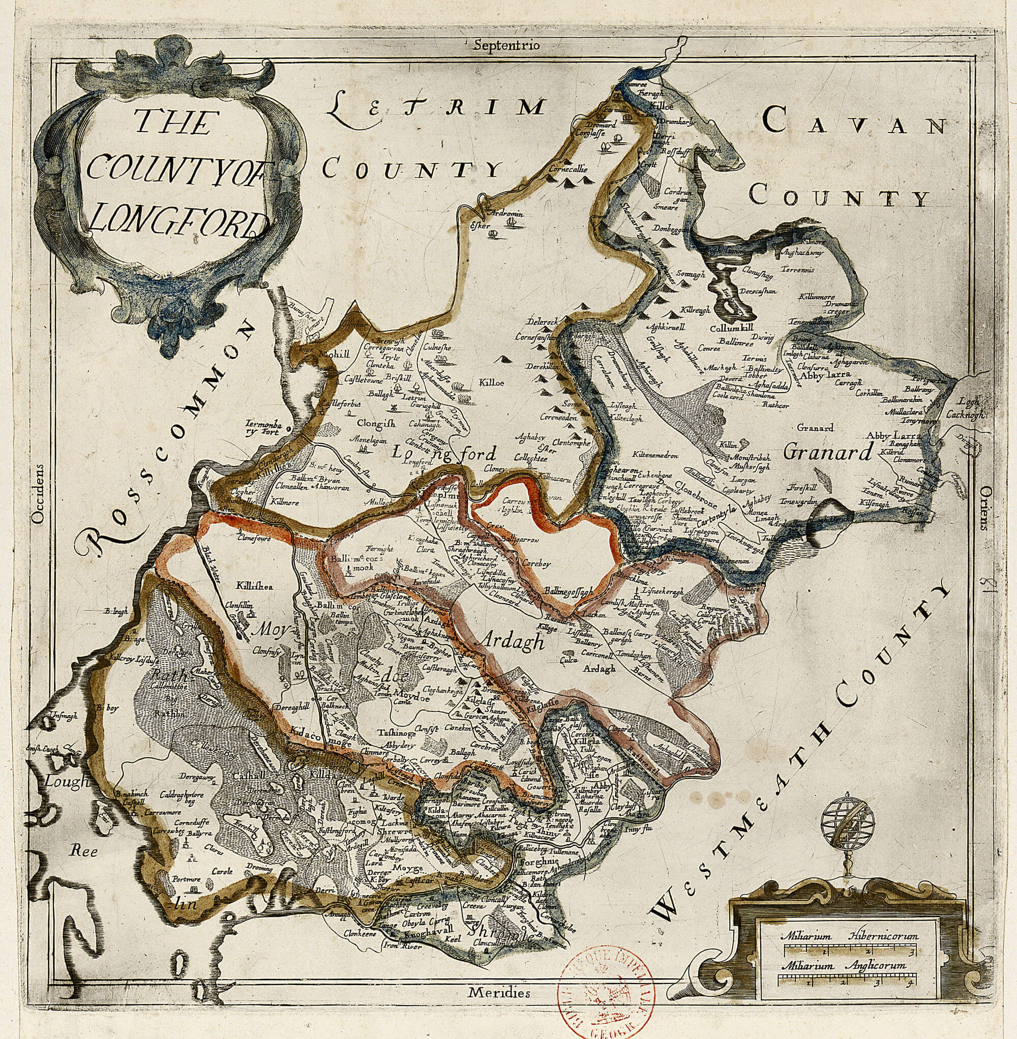 Map Of Ireland Longford.Ireland Barony Maps County Longford L Brown Collection