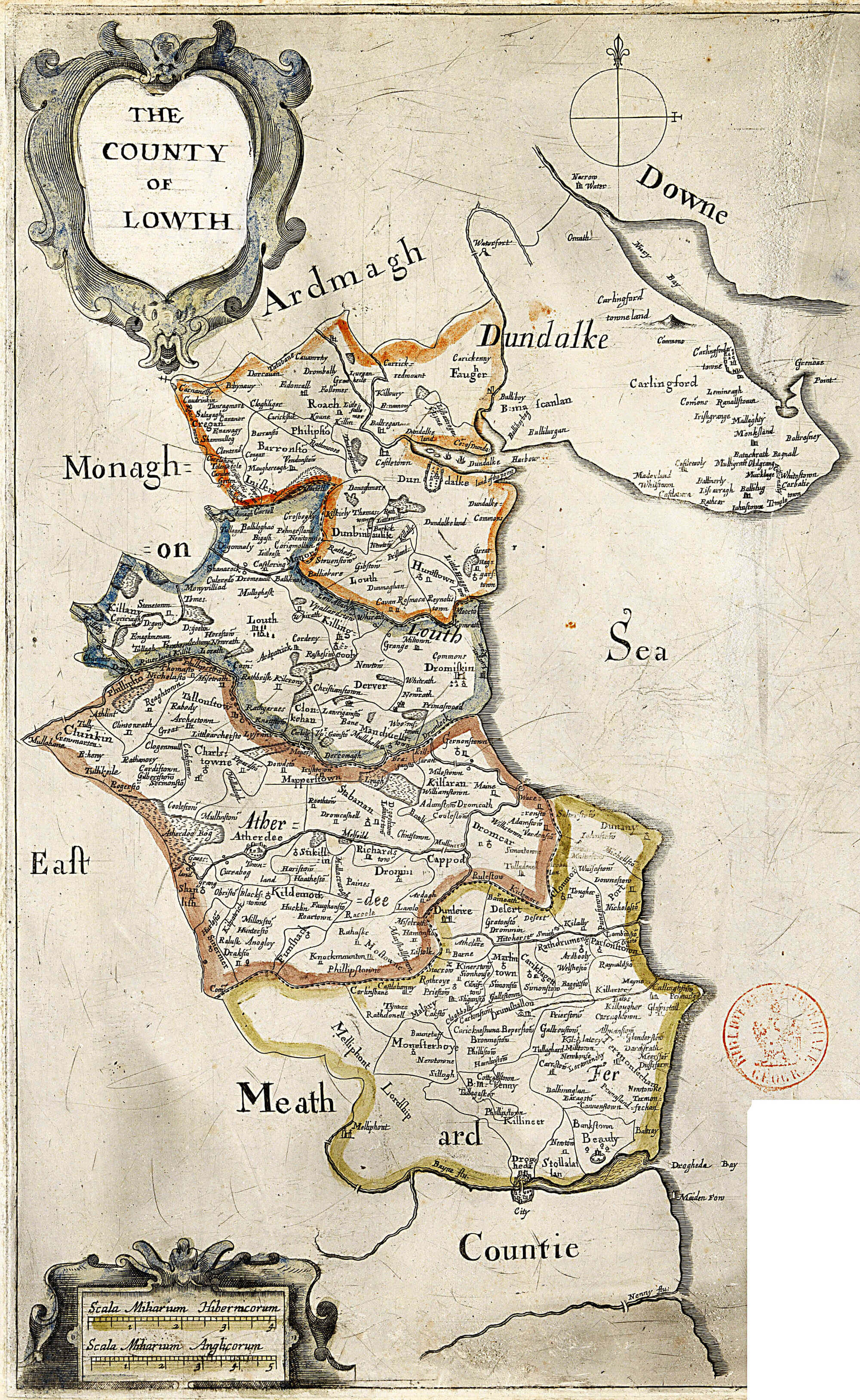 Map Of Ireland Louth.Ireland Barony Maps County Louth L Brown Collection