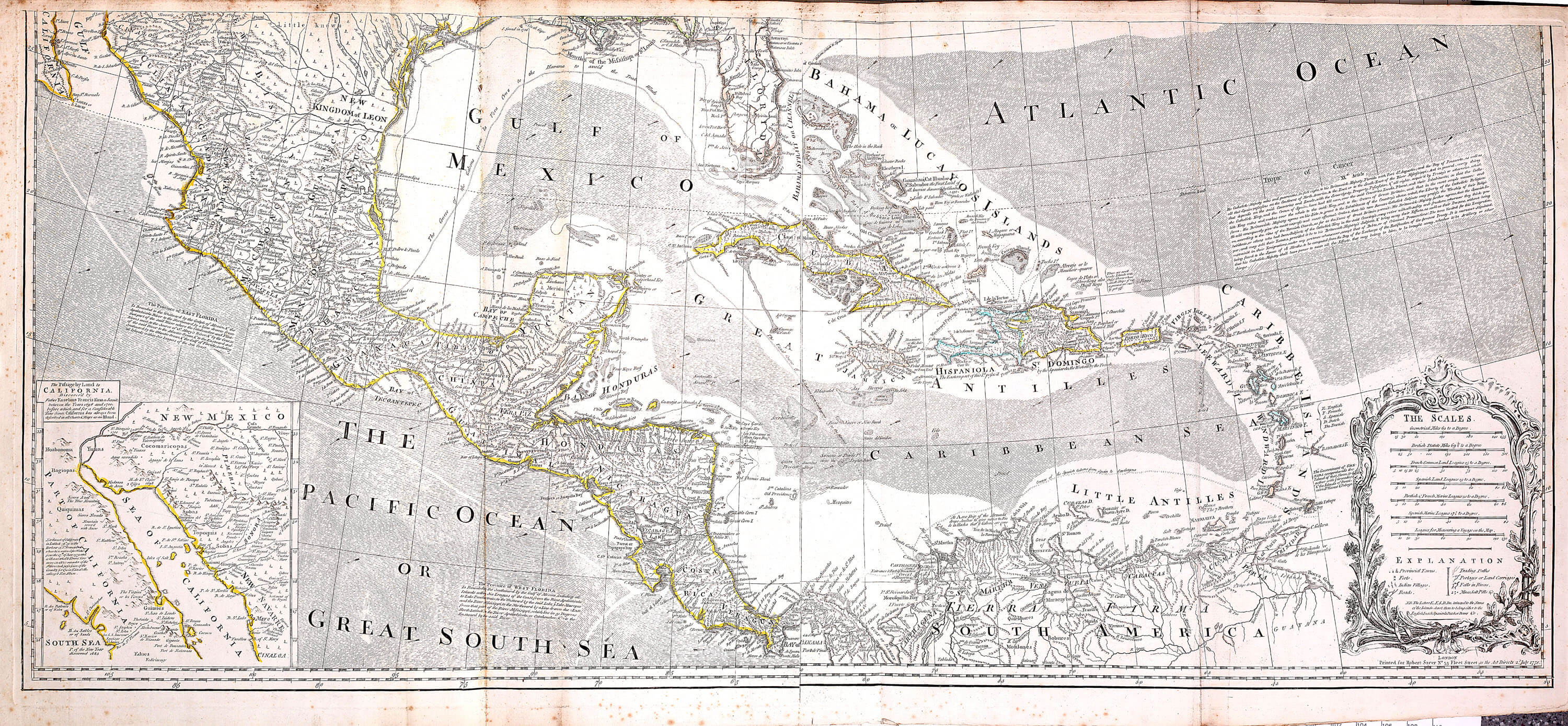Atlas Of North America Thomas Jefferys L Brown Collection - West indies central america 1763