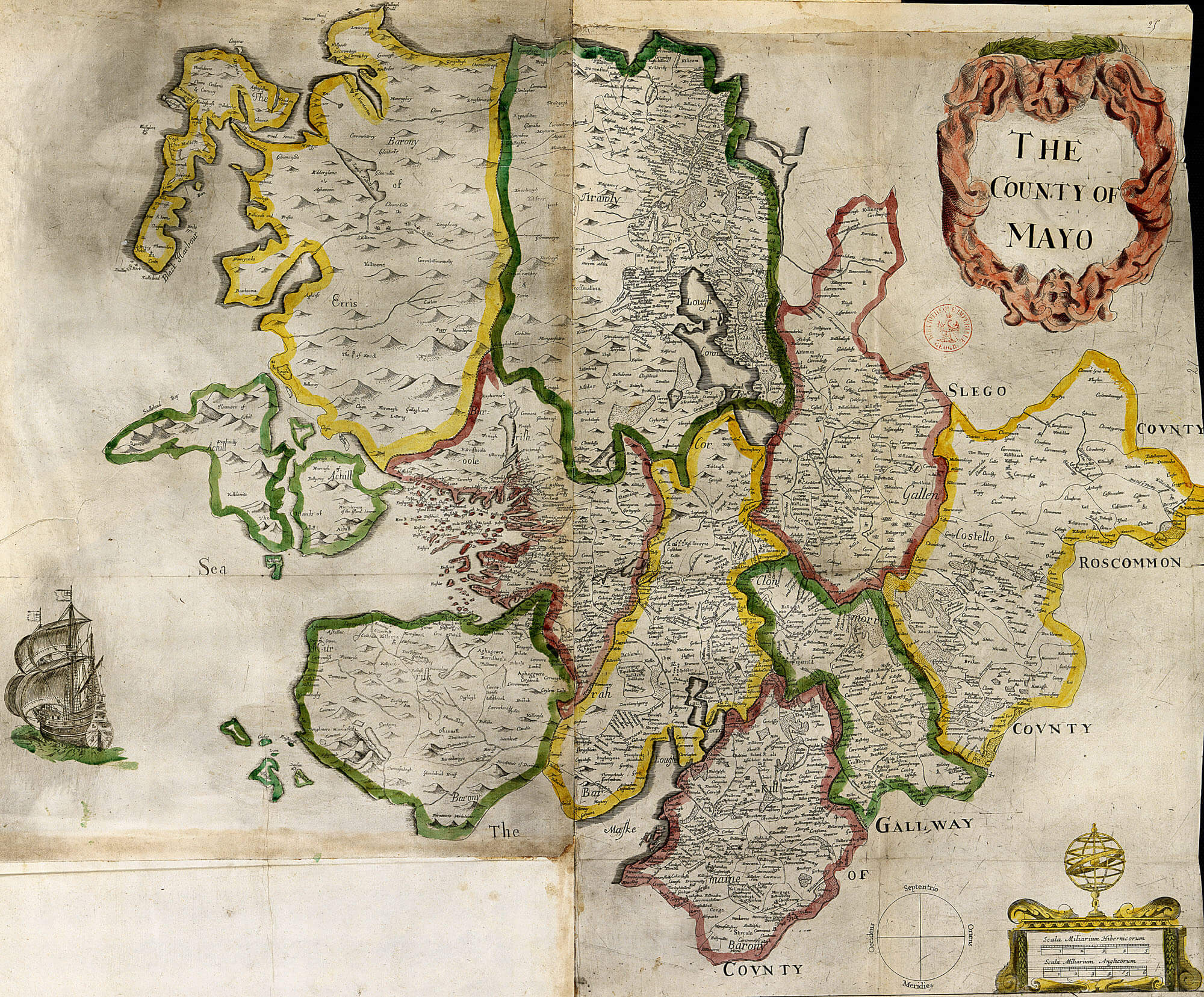Map Of Ireland Mayo.Ireland Barony Maps County Mayo L Brown Collection