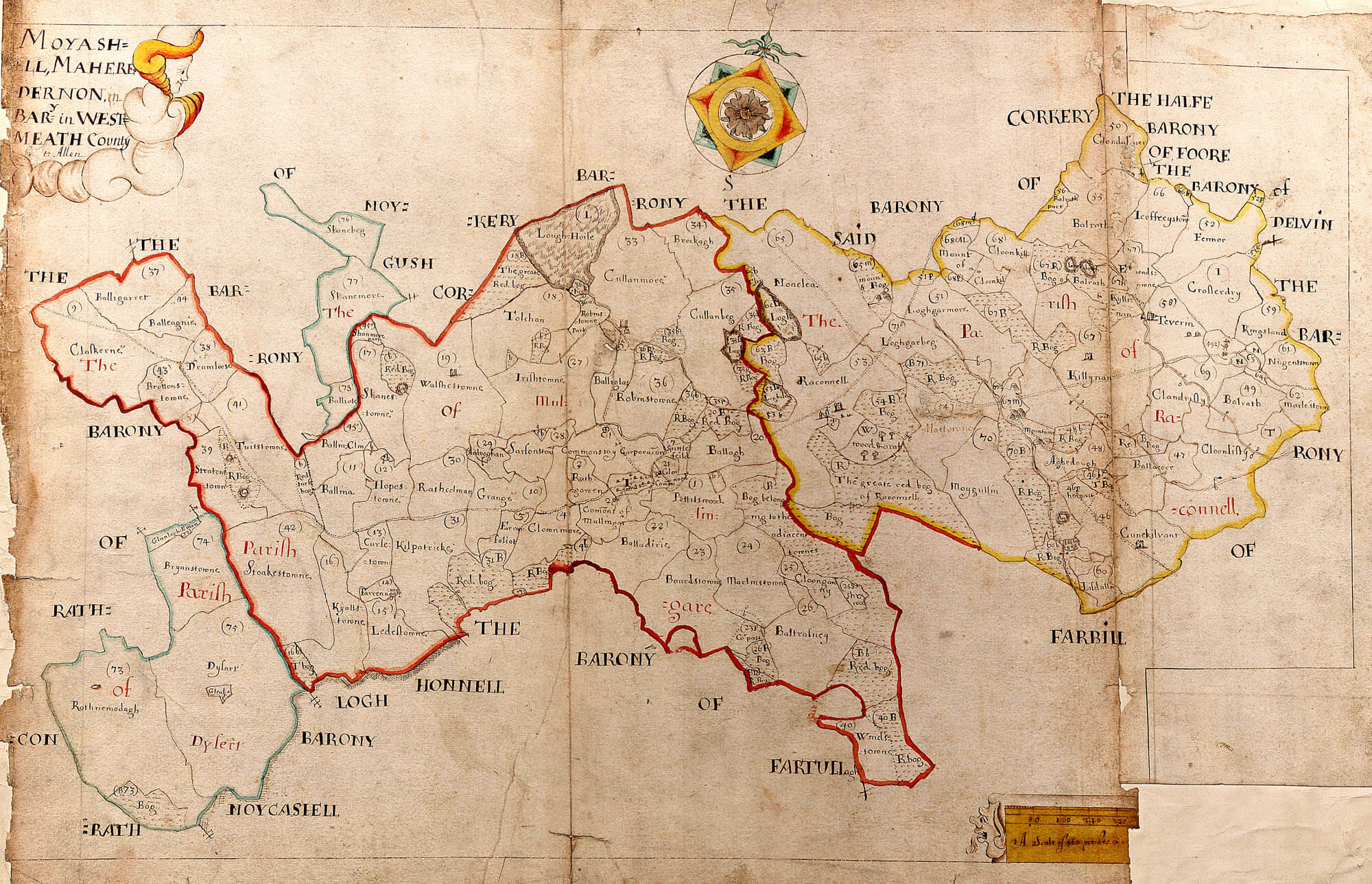 ireland barony maps county westmeath � l brown collection