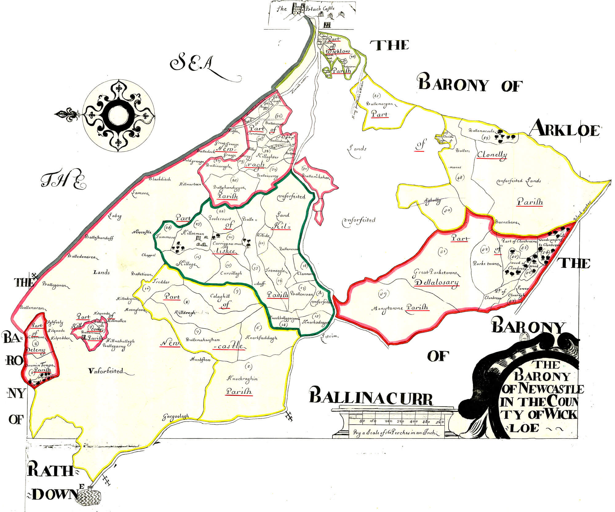 Submit Vat Online >> Ireland Barony Maps County Wicklow – L Brown Collection