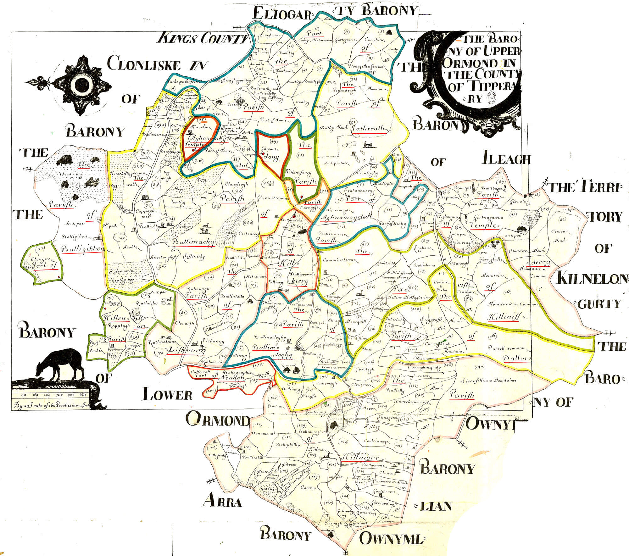 Ireland Barony Maps County Tipperary L Brown Collection