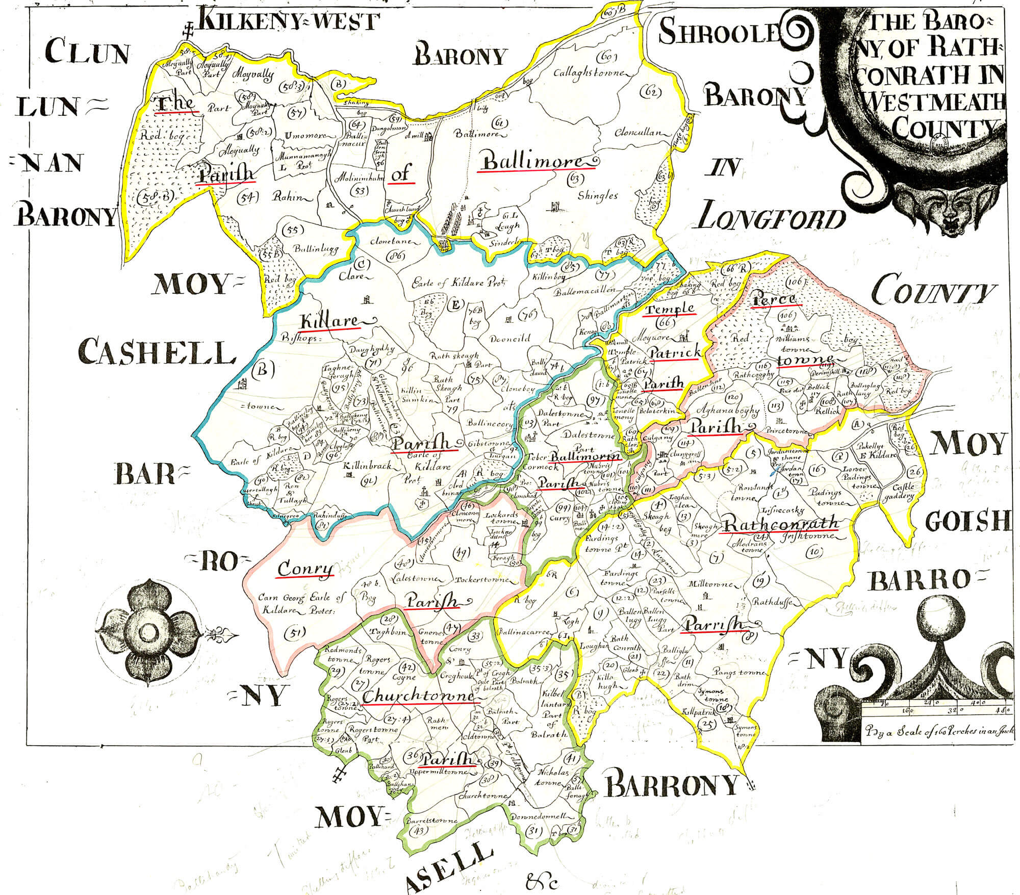 Westmeath Ireland Map.Ireland Barony Maps County Westmeath L Brown Collection