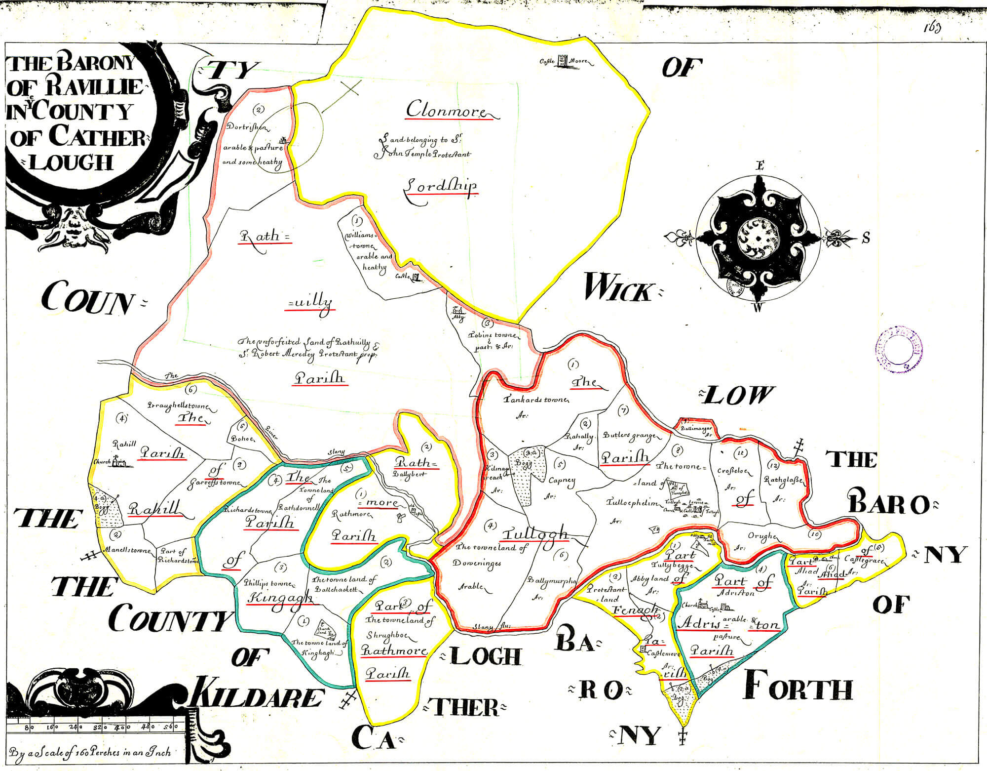 Carlow Map Of Ireland.Ireland Barony Maps County Carlow L Brown Collection
