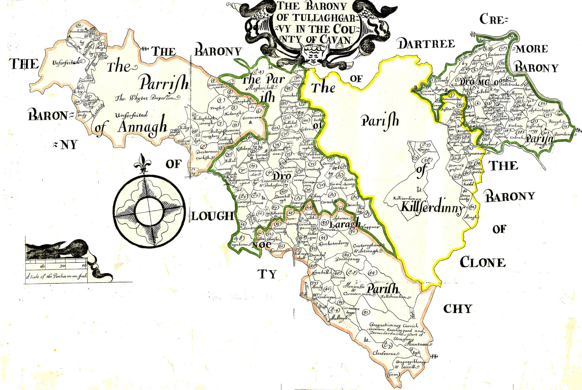 Map Of Ireland Cavan.Ireland Barony Maps County Cavan L Brown Collection