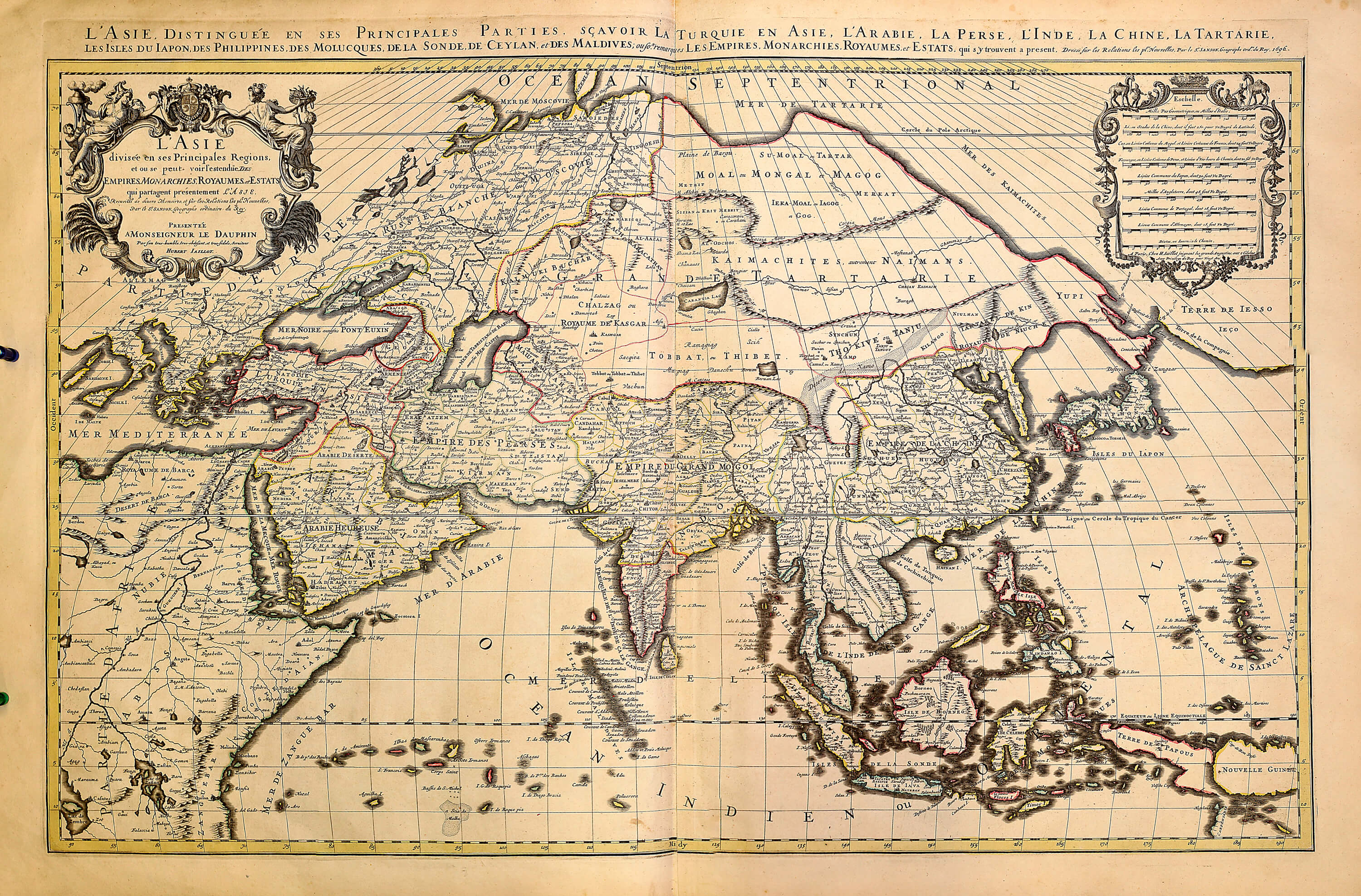 World atlas by huberjaillot a 1 72 1696 sheets 3 101 l brown a 1 72 07 asia gumiabroncs Choice Image