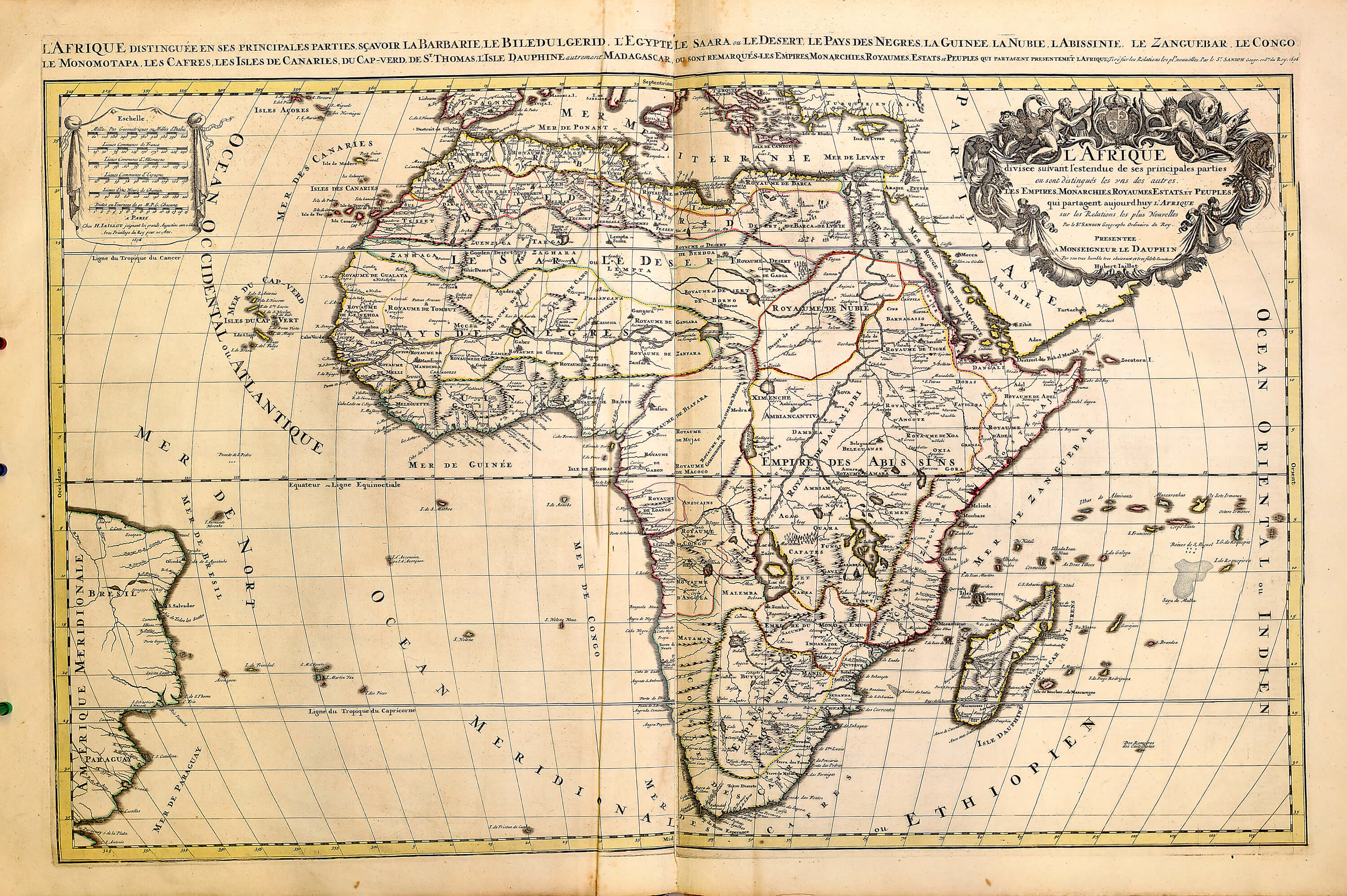 World atlas by huberjaillot a 1 72 1696 sheets 3 101 l brown a 1 72 10 africa gumiabroncs Gallery