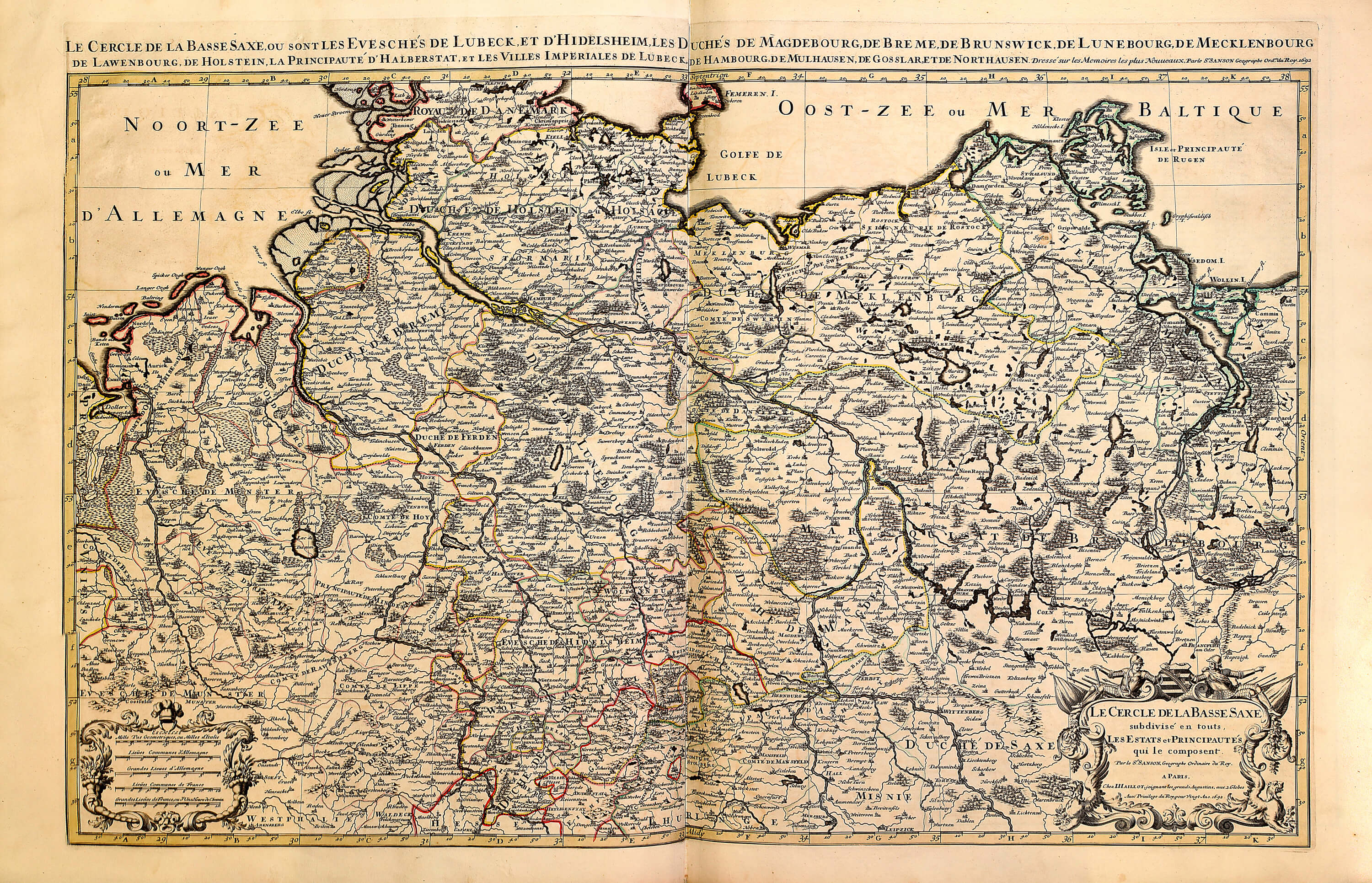 World atlas by hubert jaillot a 1 72 1696 sheets 103 200 l brown a 1 72 115 lower saxony gumiabroncs Image collections