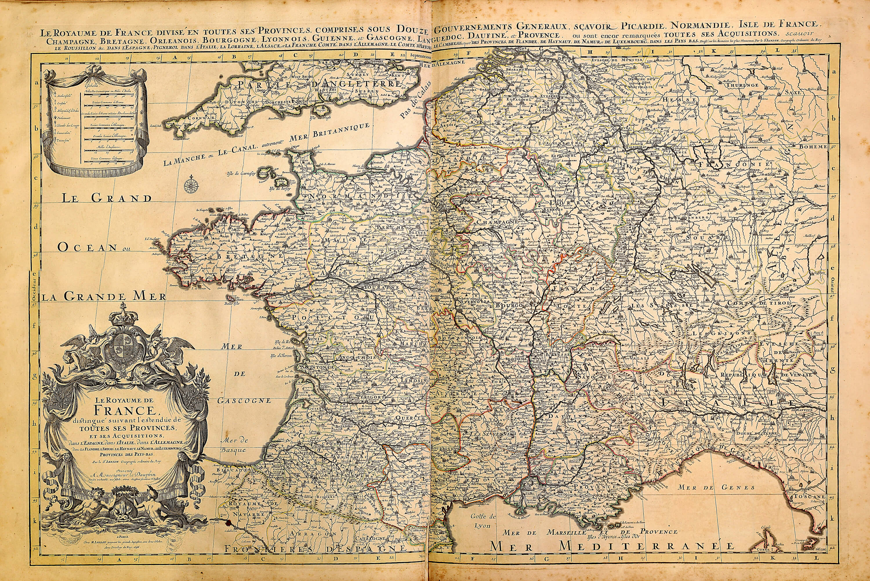 World atlas by huberjaillot a 1 72 1696 sheets 3 101 l brown a 1 72 34 france gumiabroncs Images