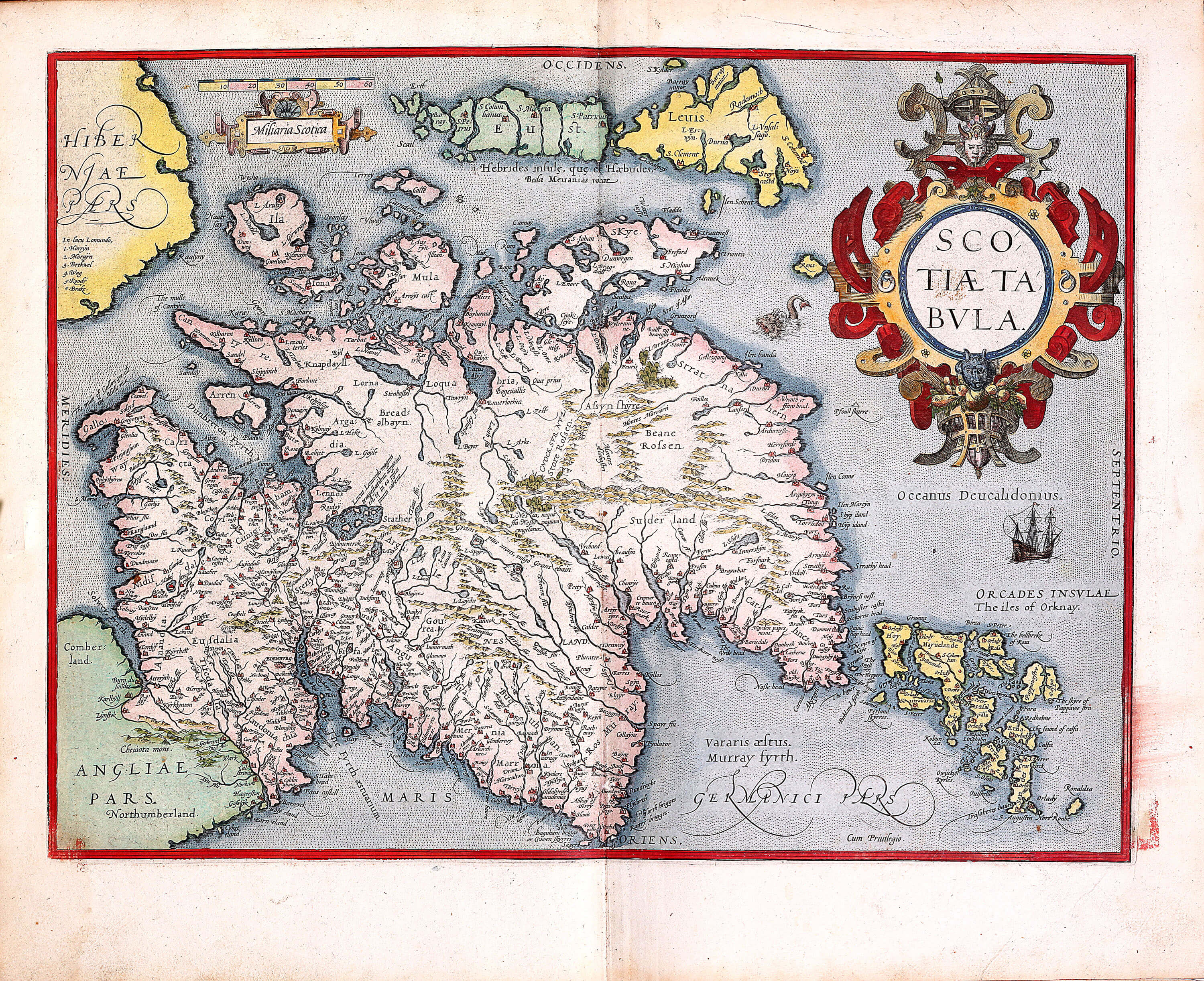 World atlas by abraham ortelius pp a 34 1589 part 1 sheets 1 45 l pp a 34 07 scotland gumiabroncs Image collections