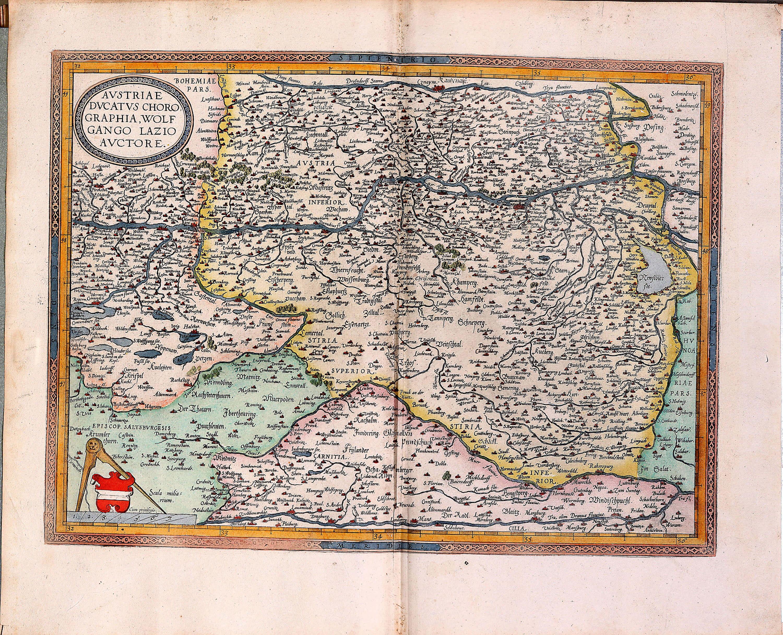 World atlas by abraham ortelius pp a 34 1589 part 2 sheets 46 88 l pp a 34 46 austria gumiabroncs Choice Image