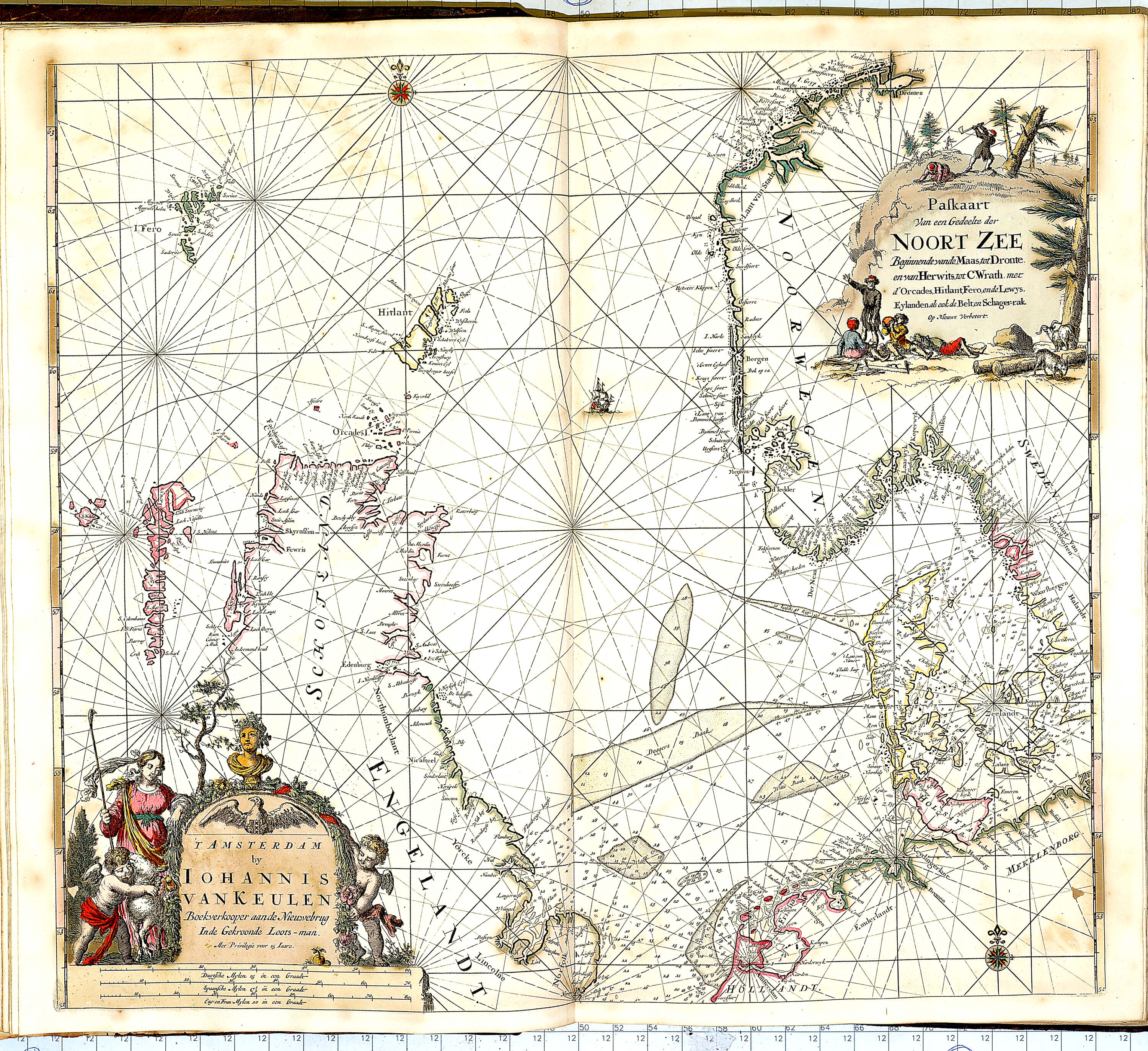World atlas of charts by johannes van keulan z 1 17 1696 part 1 z 1 17 006 north sea gumiabroncs Gallery