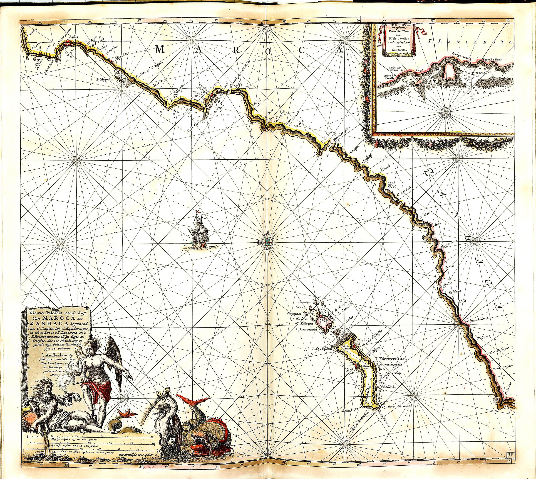 World atlas of charts by johannes van keulan z 1 17 1696 part 3 z 1 17 100 maroca zanhaga gumiabroncs Images