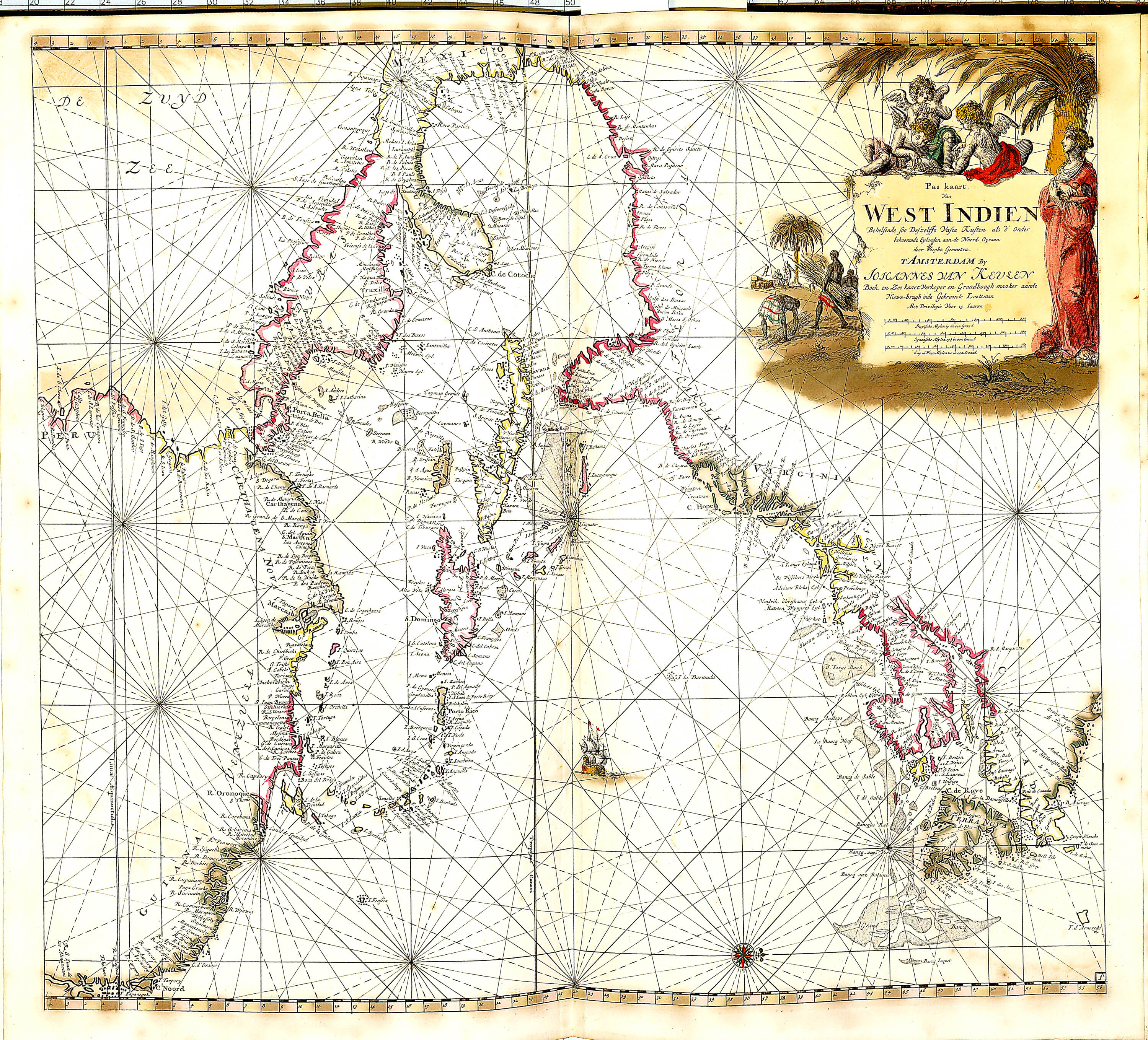 World atlas of charts by johannes van keulan z 1 17 1696 part 3 z 1 17 107 west indies gumiabroncs Image collections