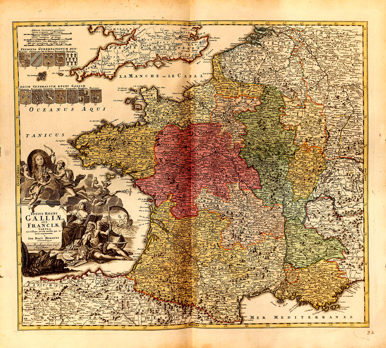 World atlas vol 1 by johannes babtiste homan z 1 8 1731 l brown z 1 8 32 france gumiabroncs Choice Image